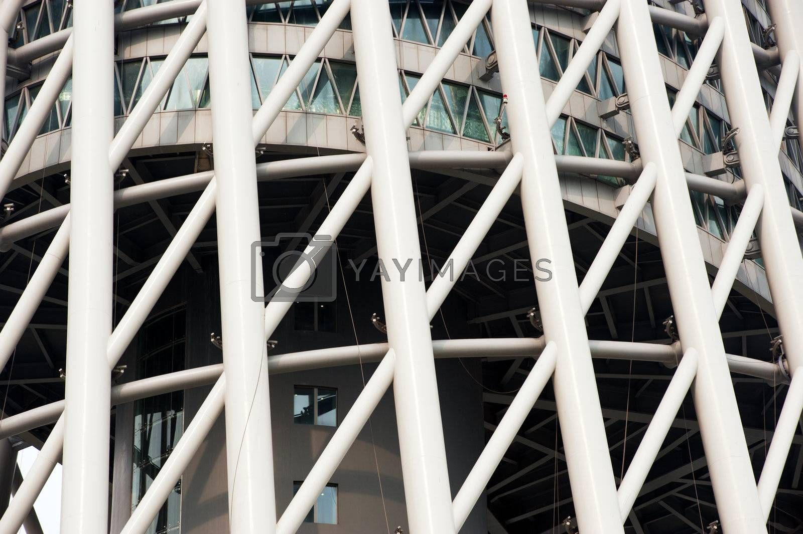 Modern architecture closeup by raywoo