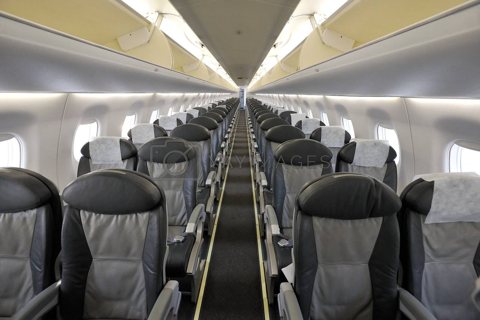 Photo of empty passenger airplane