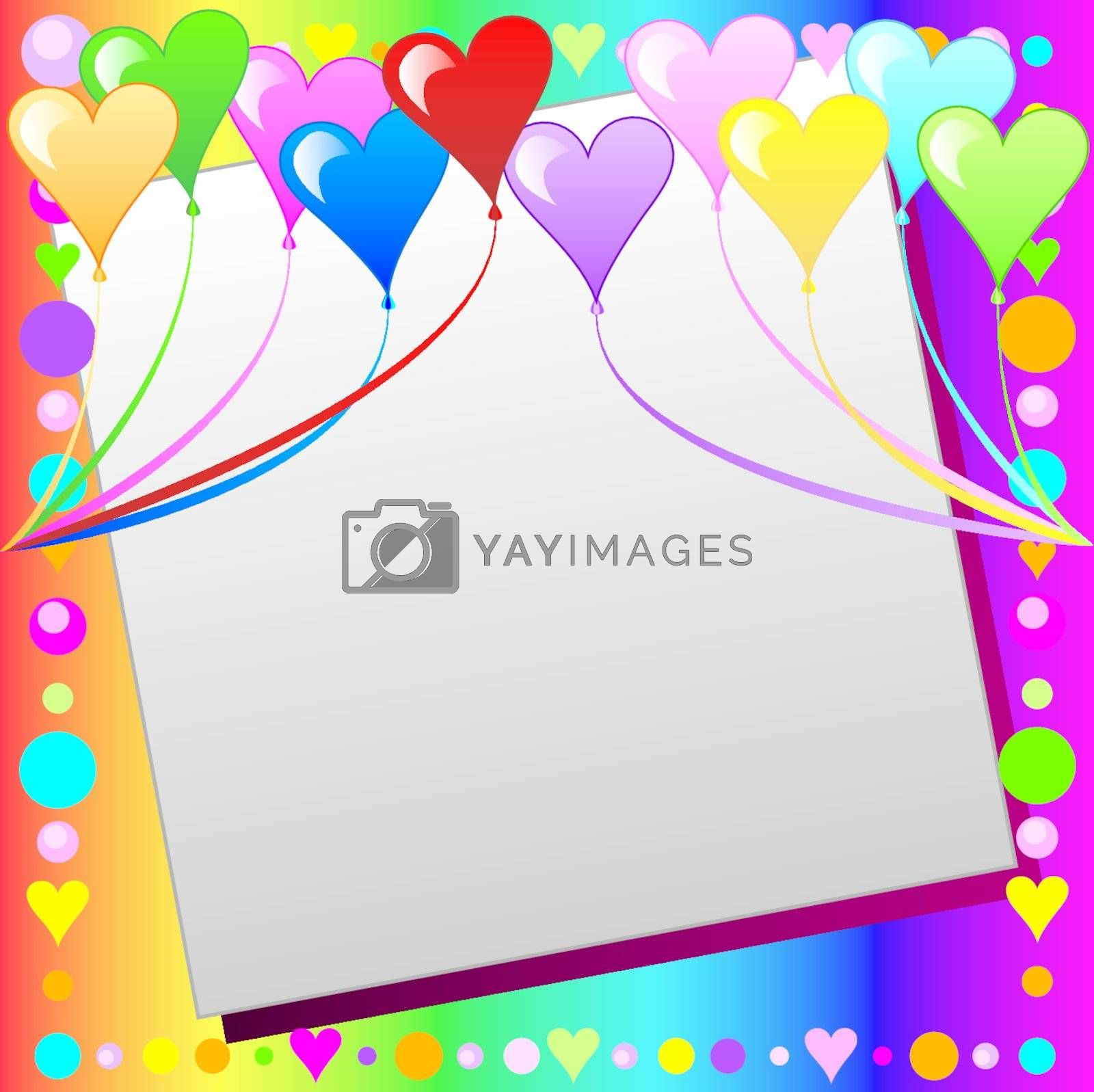 Vector Illustration can be used as a book cover, card or anything you choose. There is room for your text.