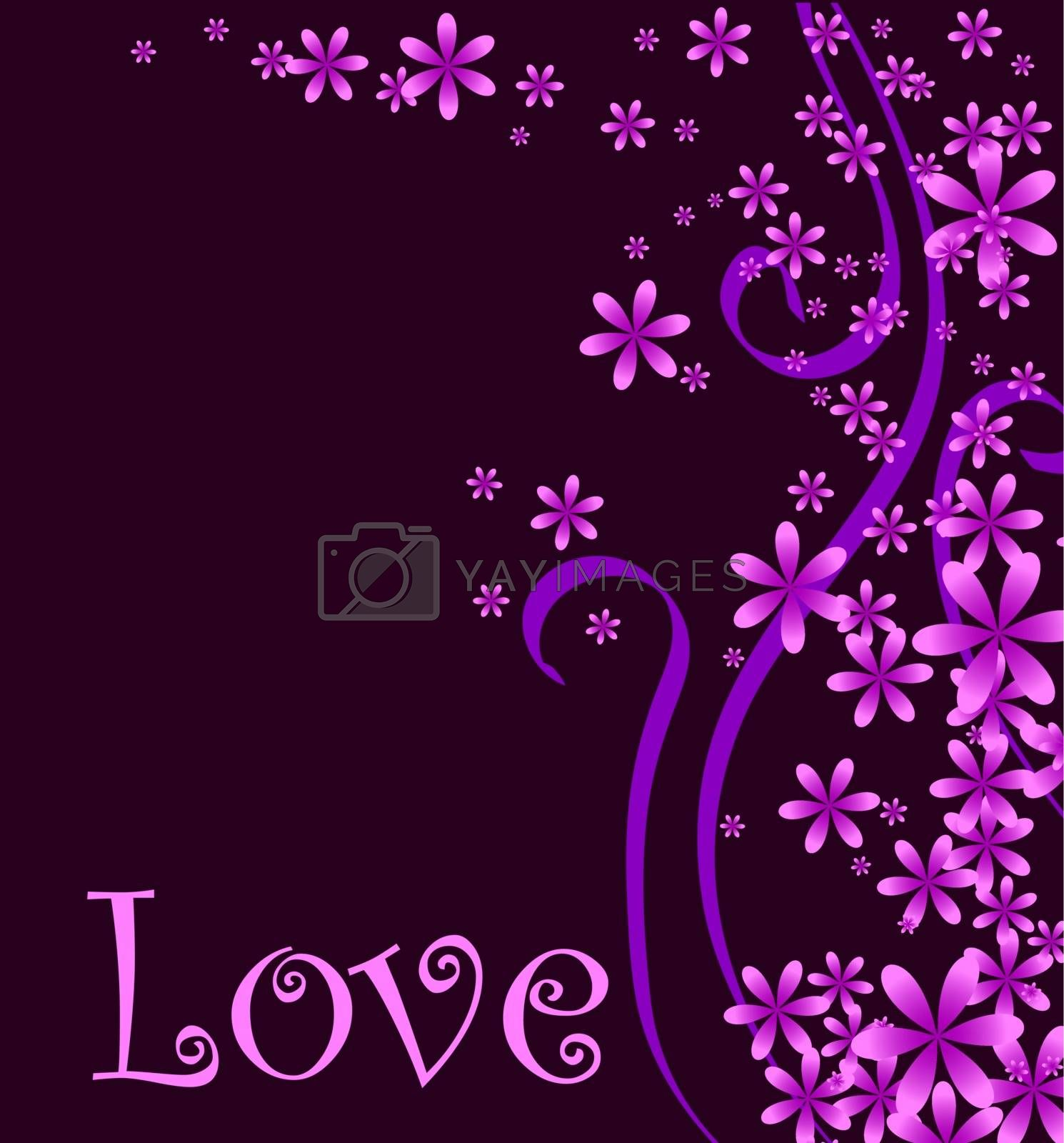 Vector illustration of a love or Valentines background.
