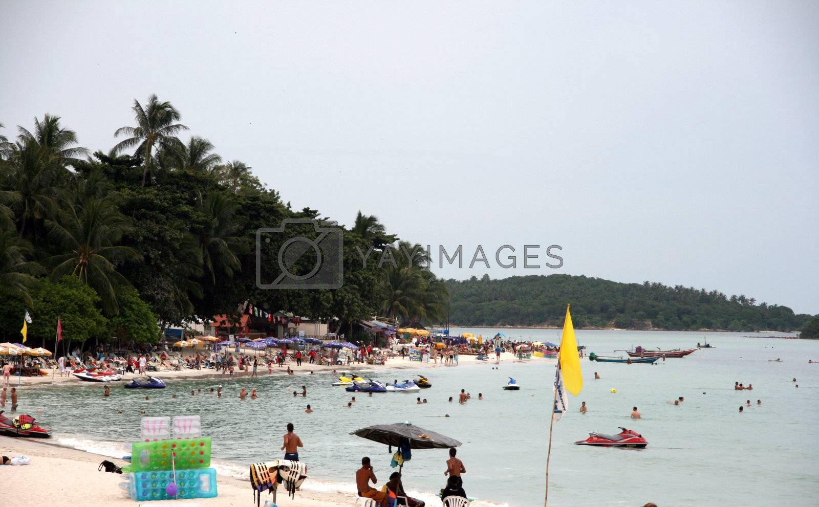 Royalty free image of action in chaweng beach by forwardcom