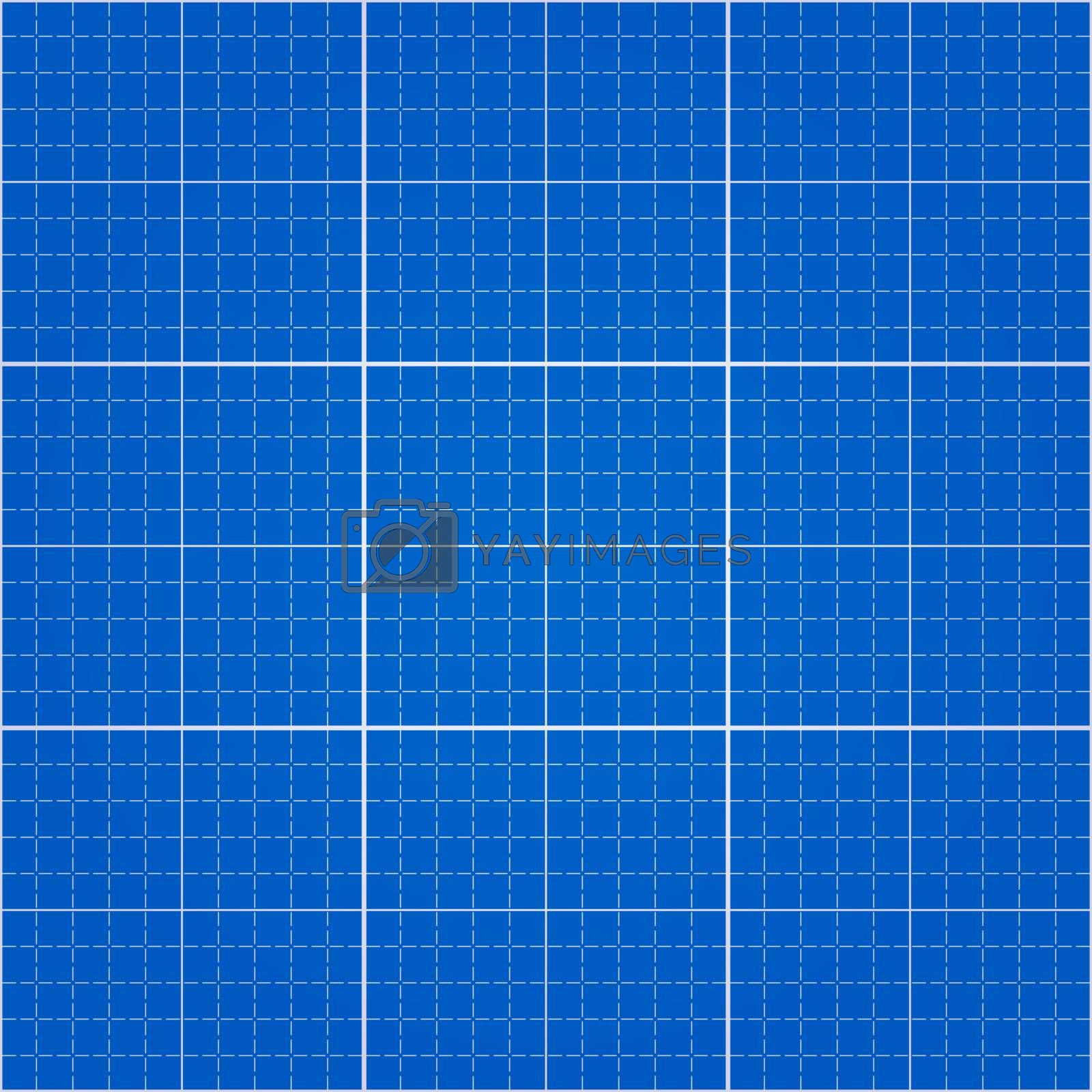 Engineering drawing blue paper background with pattern swatch in EPS file