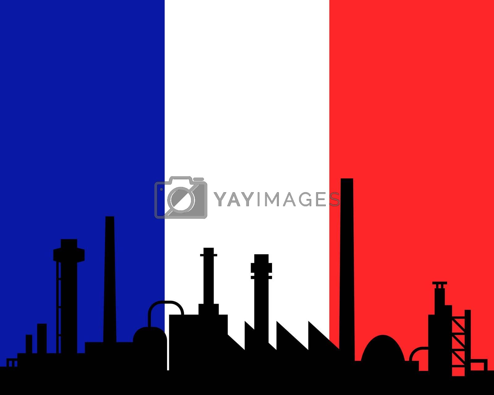 Industry and flag of France
