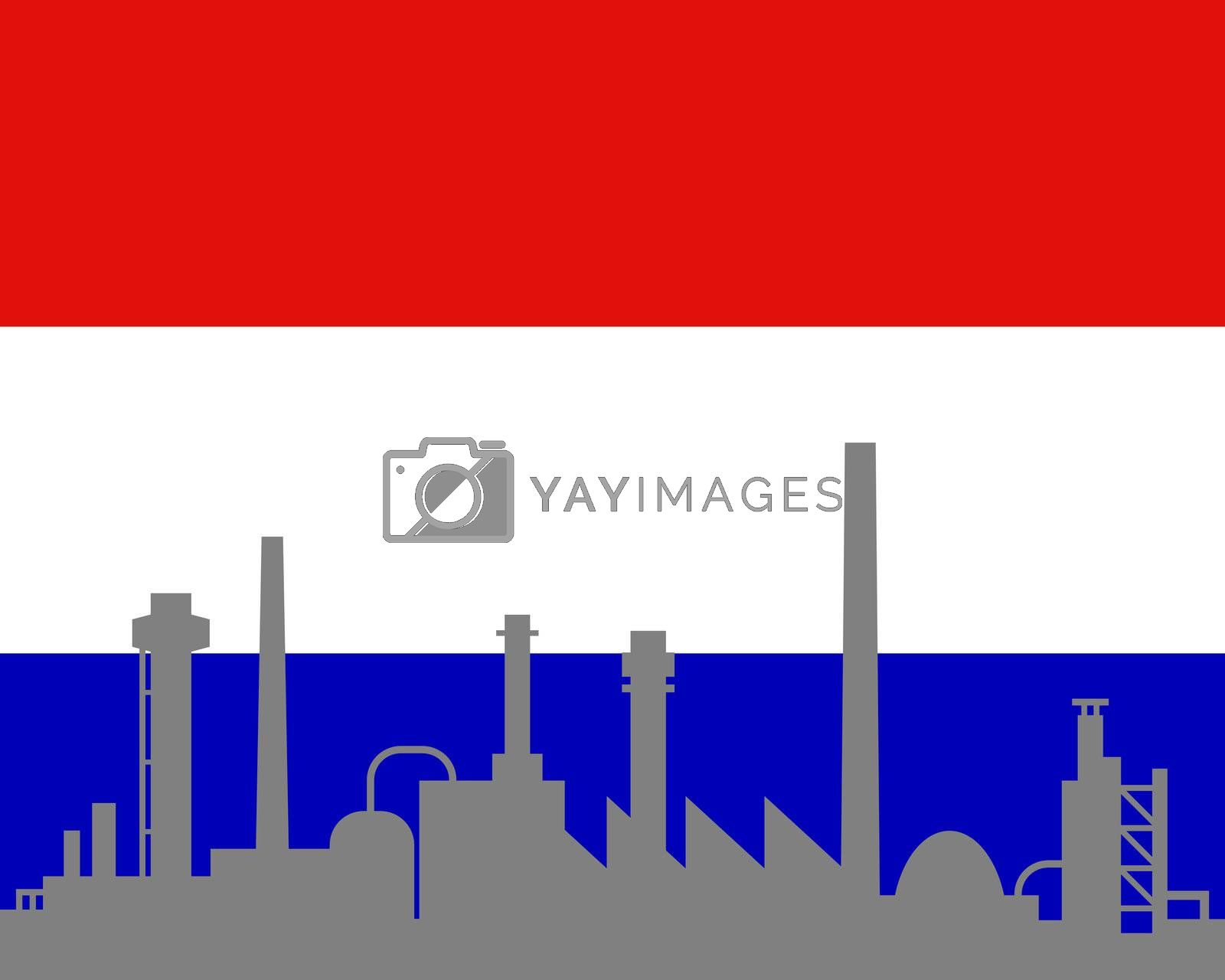 Industry and flag of the Netherlands