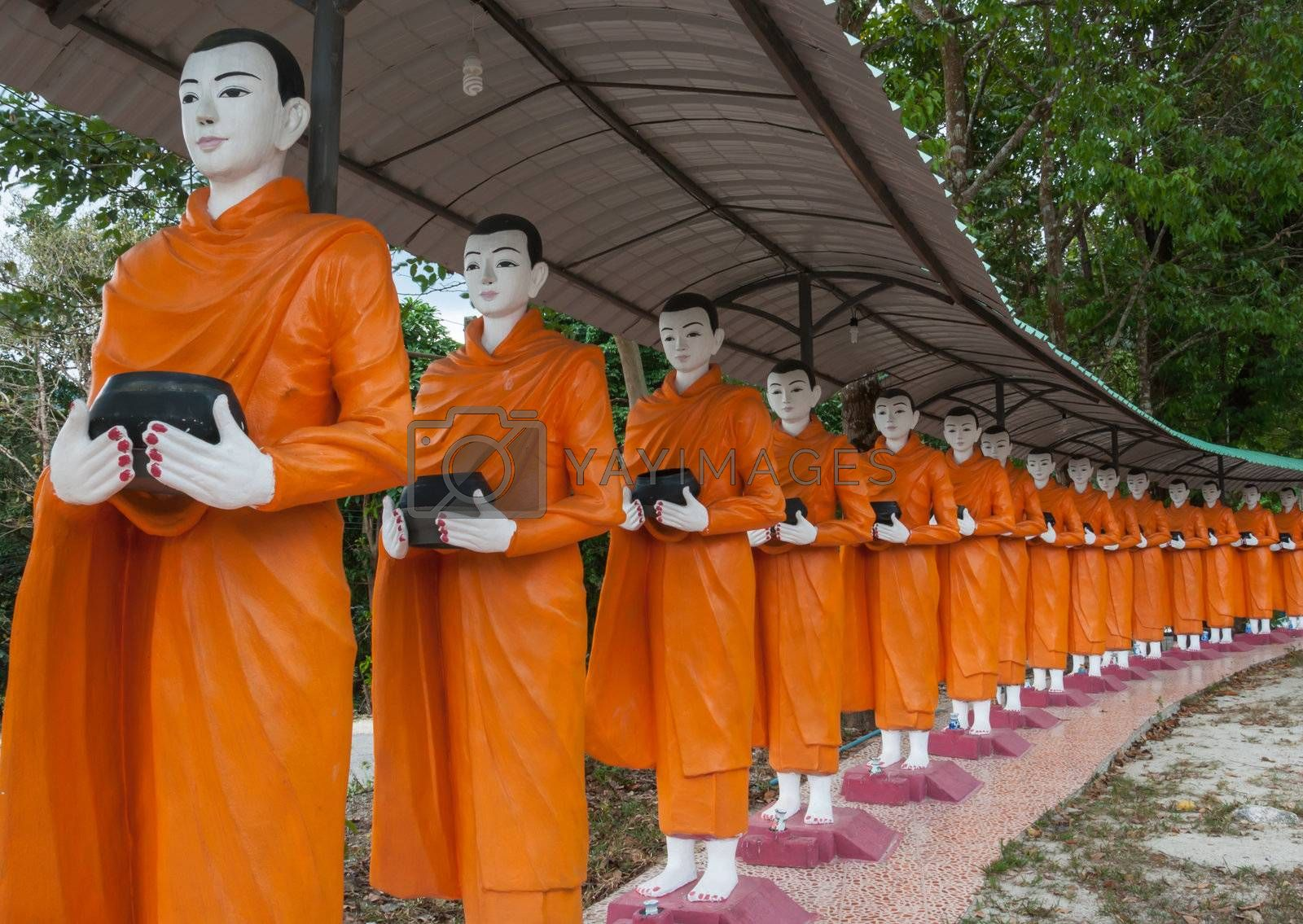Food offering to a monk is culture of Buddhism