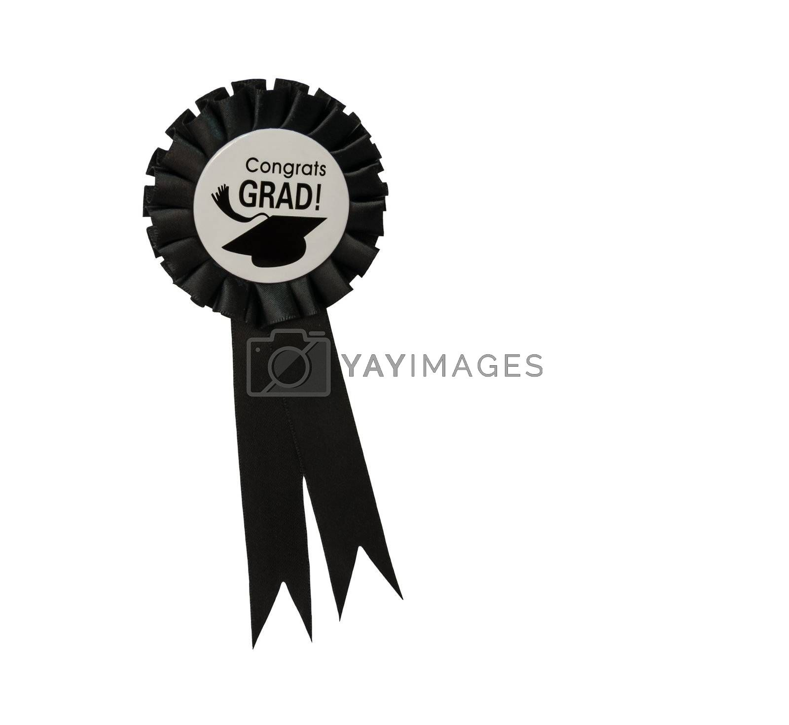 The fabric brooch with Congrats GRAD label