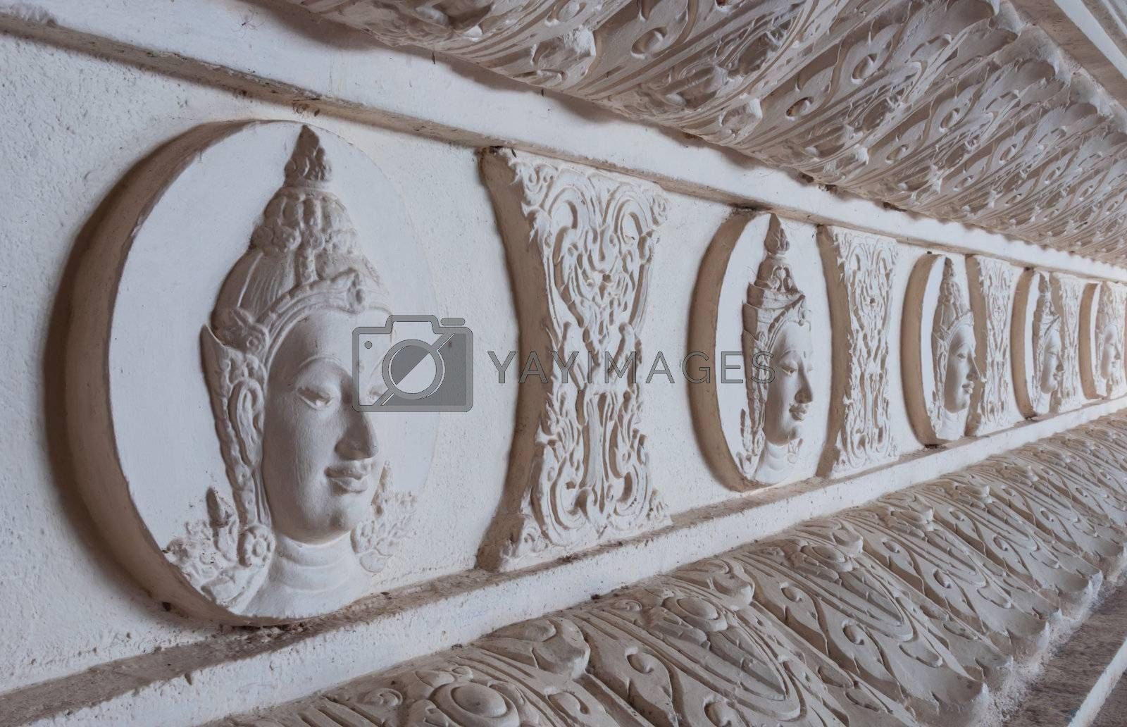 The attractive Thai style of god that is on base of Buddha statue