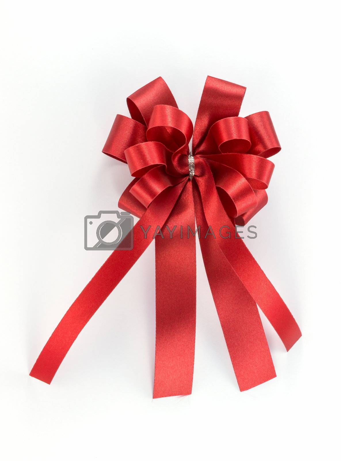 The bow make of red ribbon look luxury and beautiful