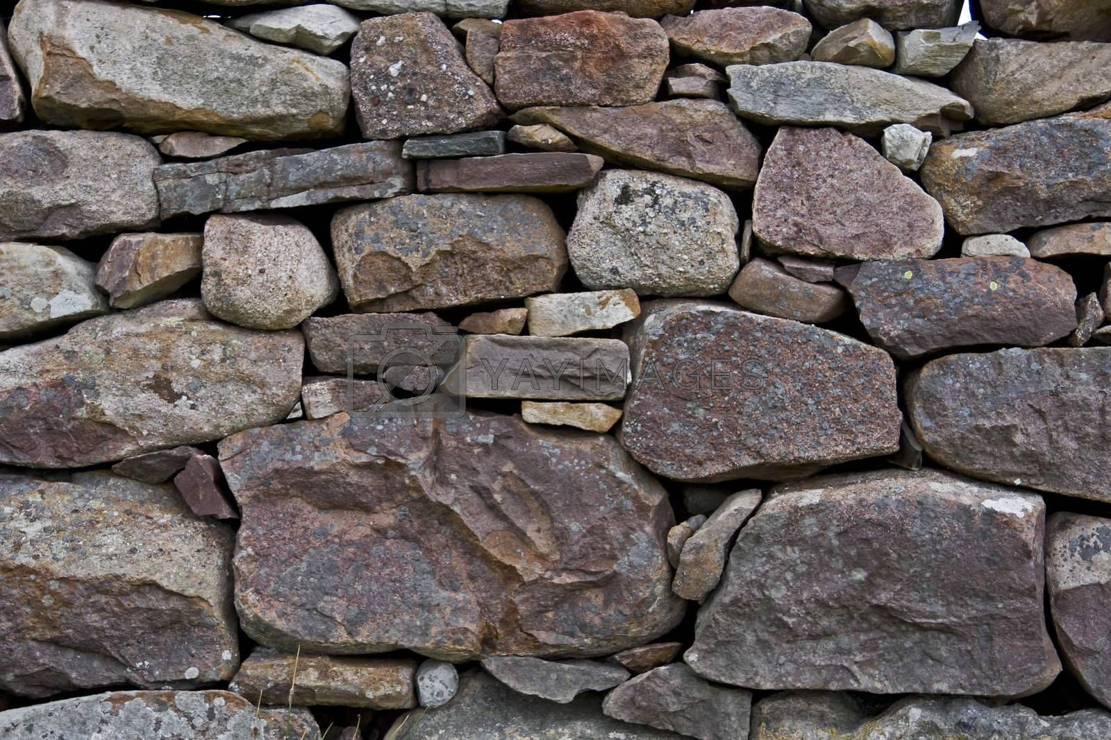 detail shot of stone wall. horizontal.