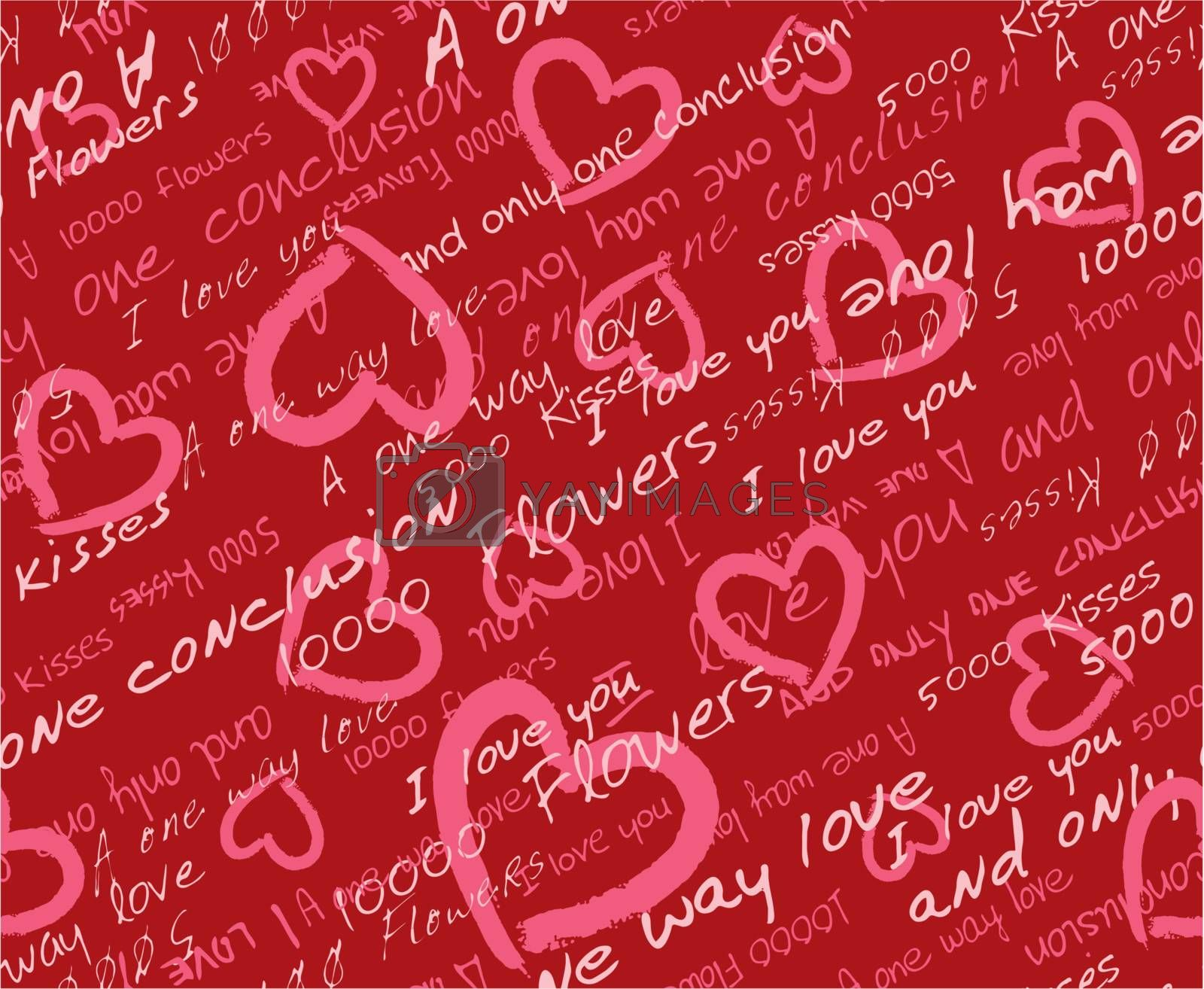 Hearts vector seamless  pattern