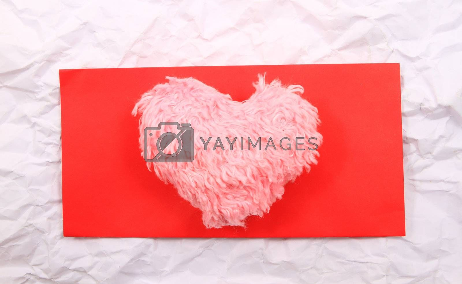 Valentine's day card with hearts