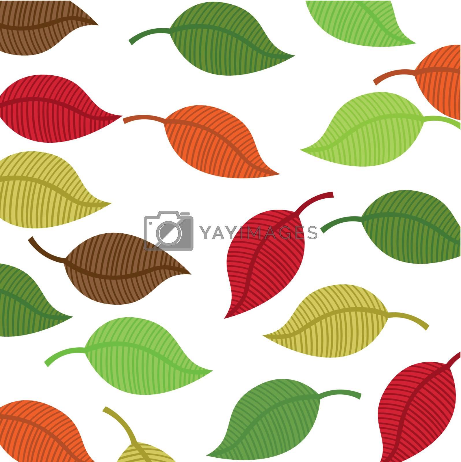 warm colors leaves autumn vector background. illustration