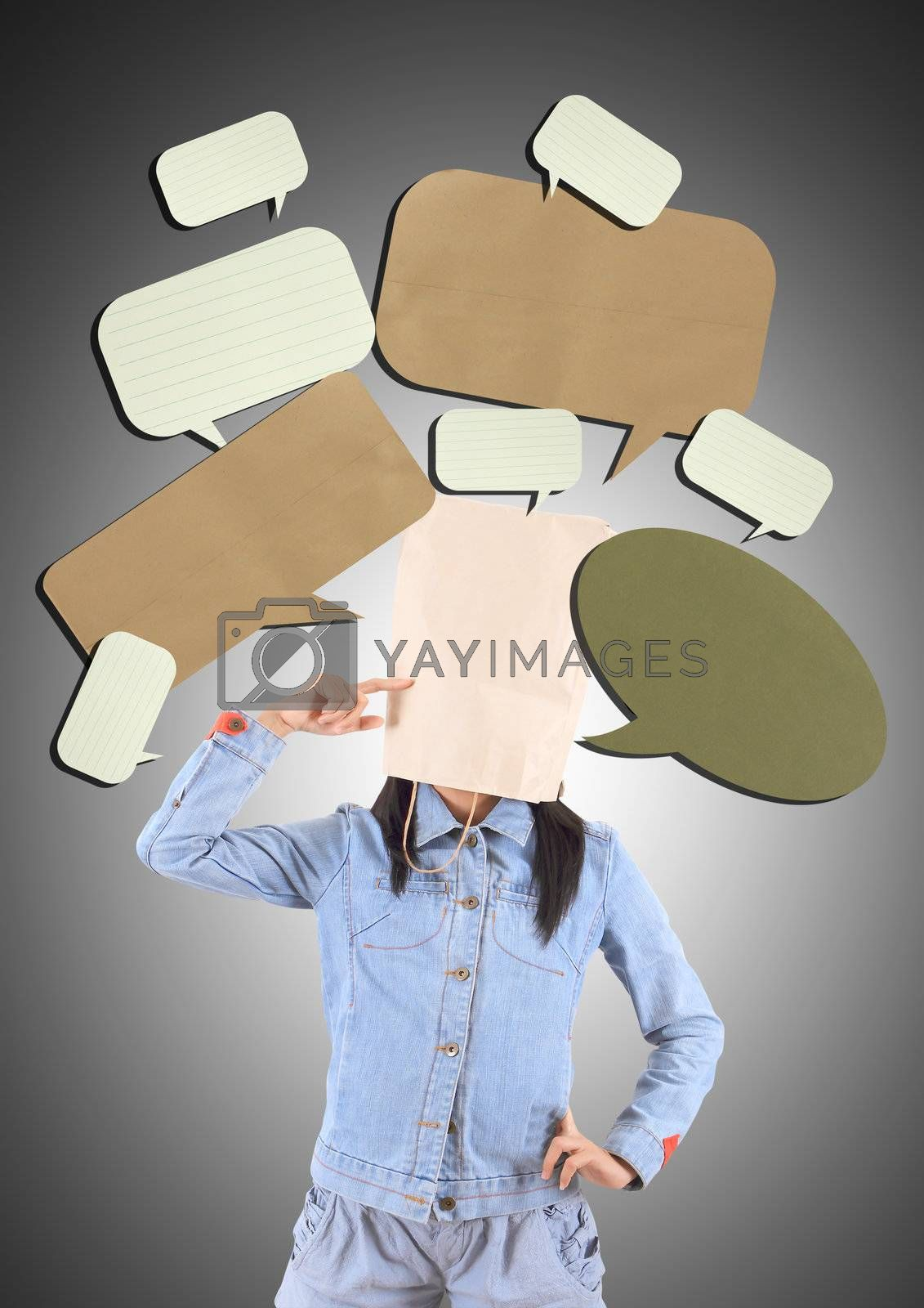 Image of young woman thinking of his plans
