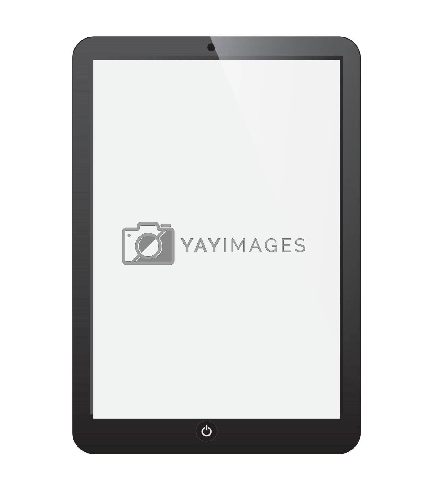 Cellphone black over white background vector illustration
