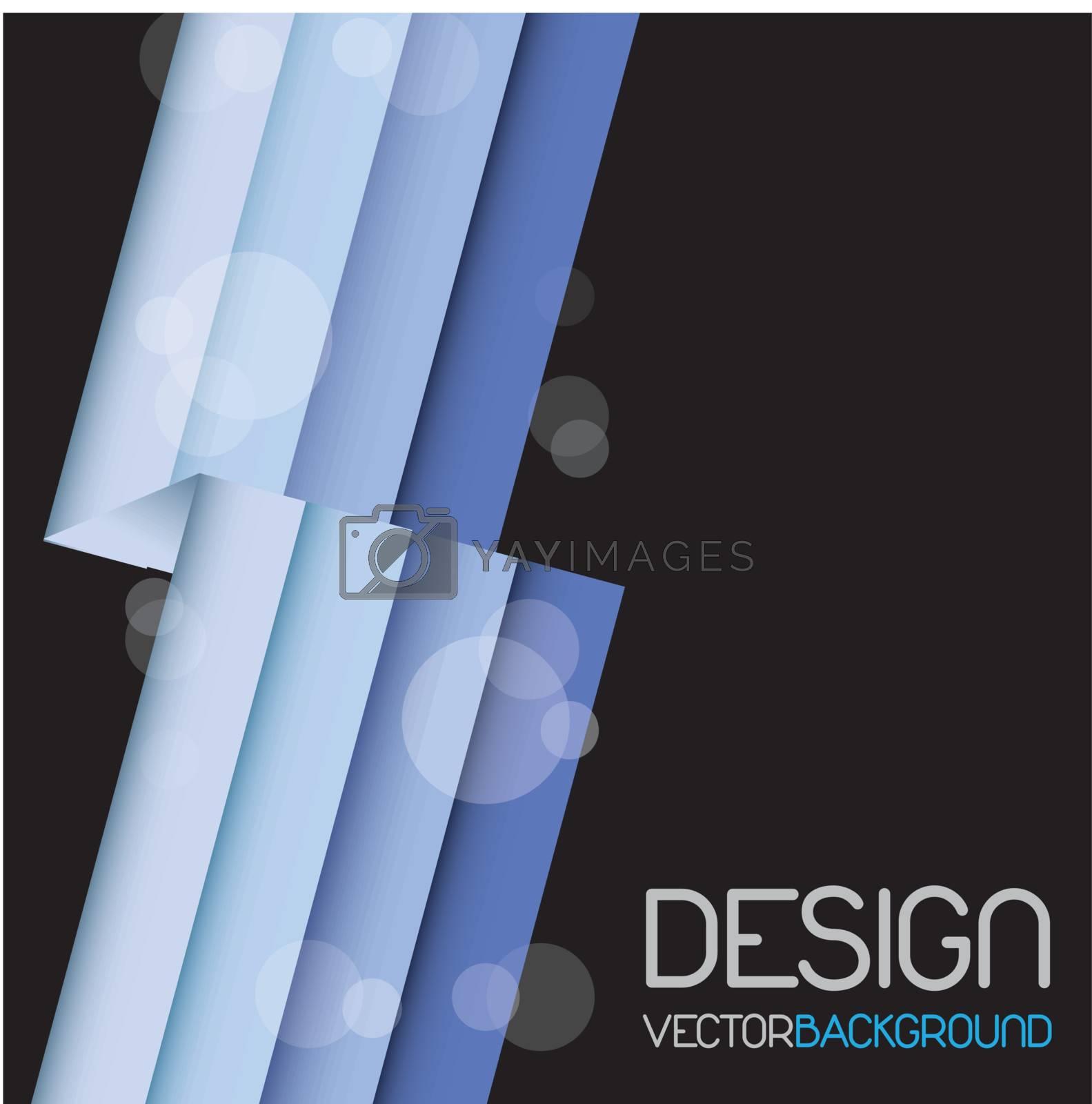 Design blue lines over black background.