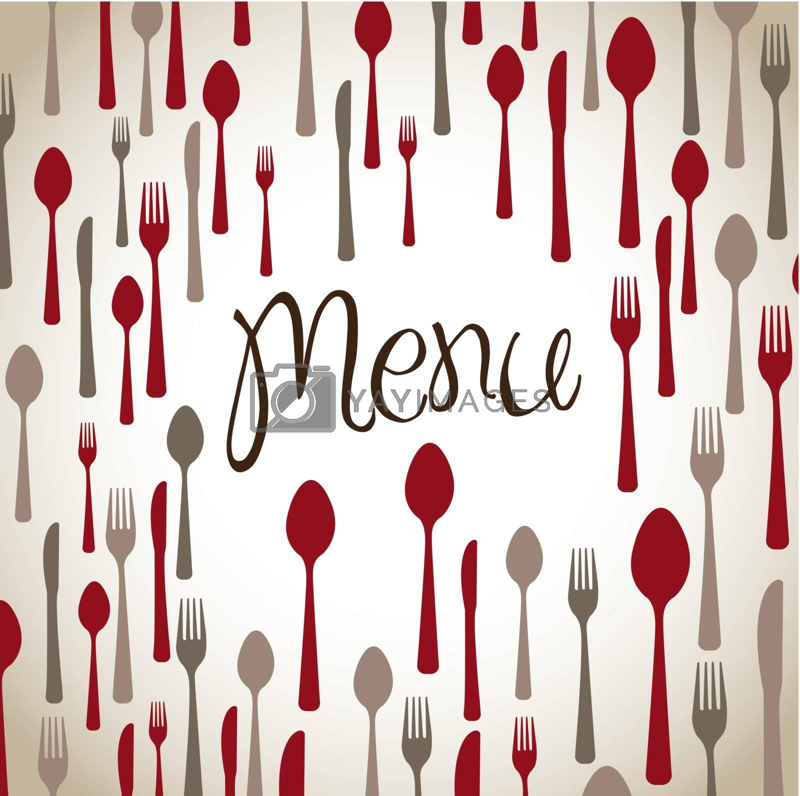 background of menu with cutlery vector illustration