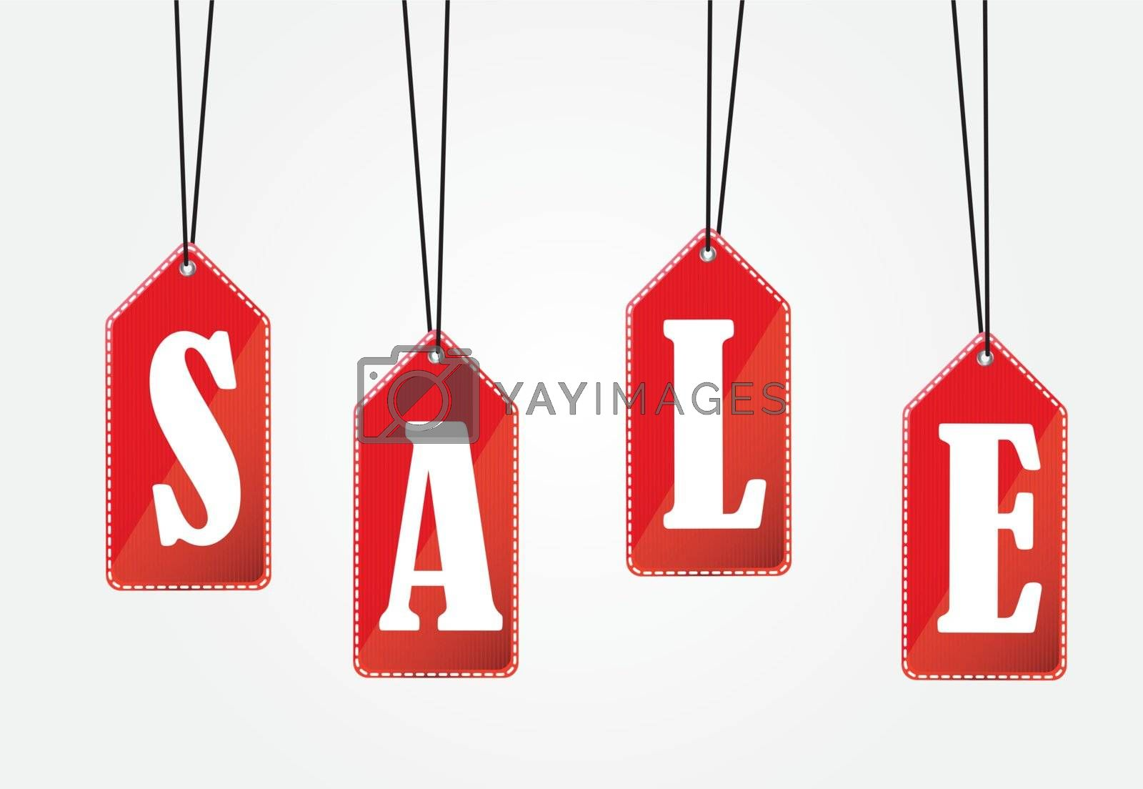 Sale over white background vector illustration