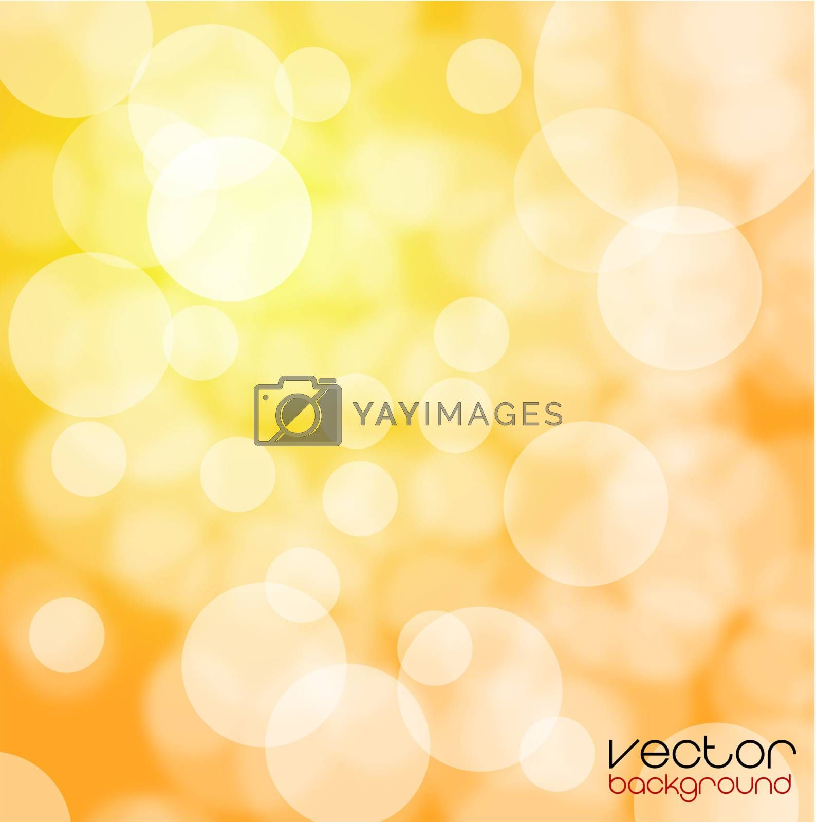 Orange and yellow background vector illustration