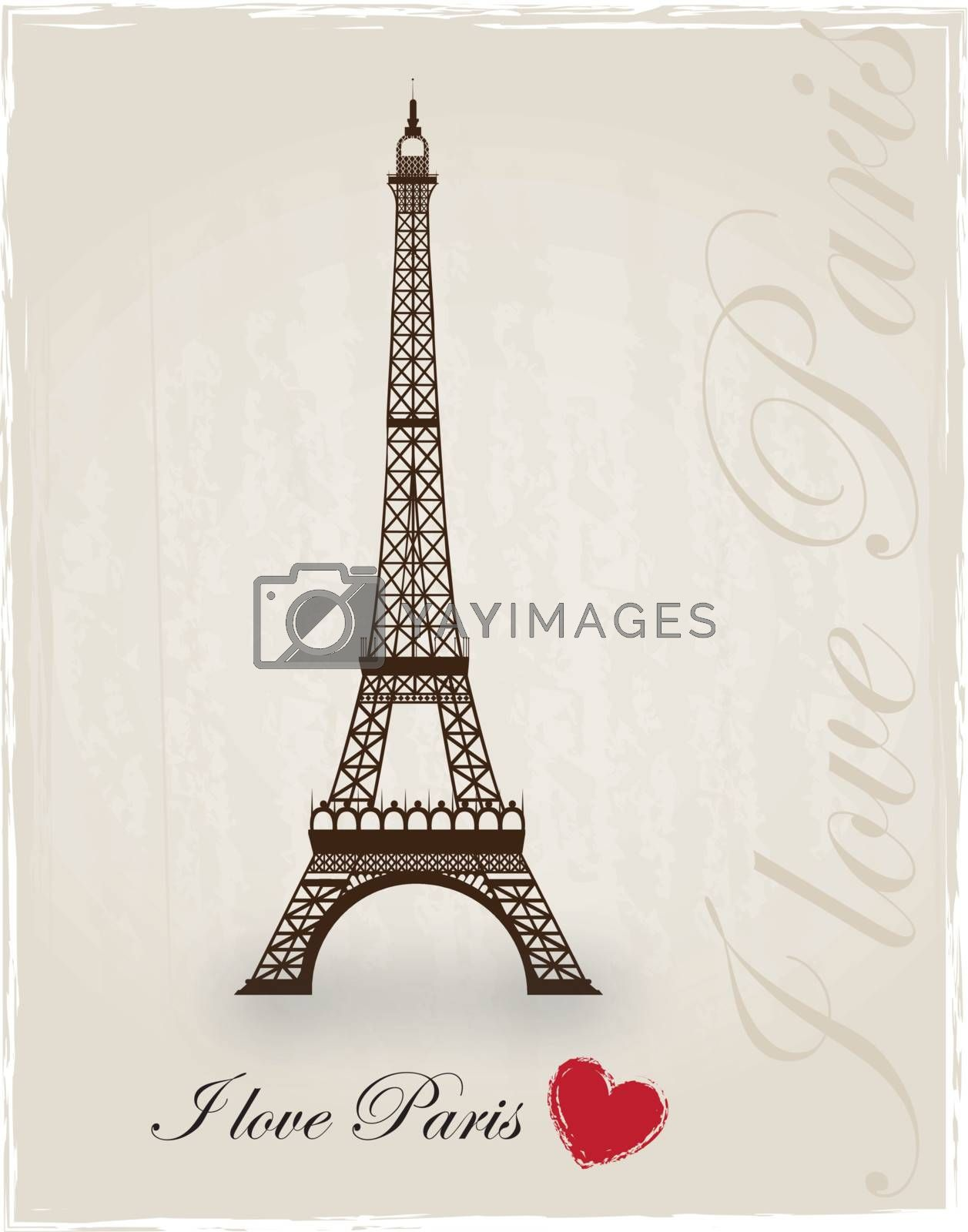 Eiffel tower as a sign of love for Paris