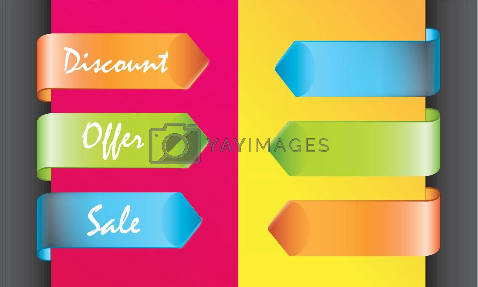colors discount labels by yupiramos