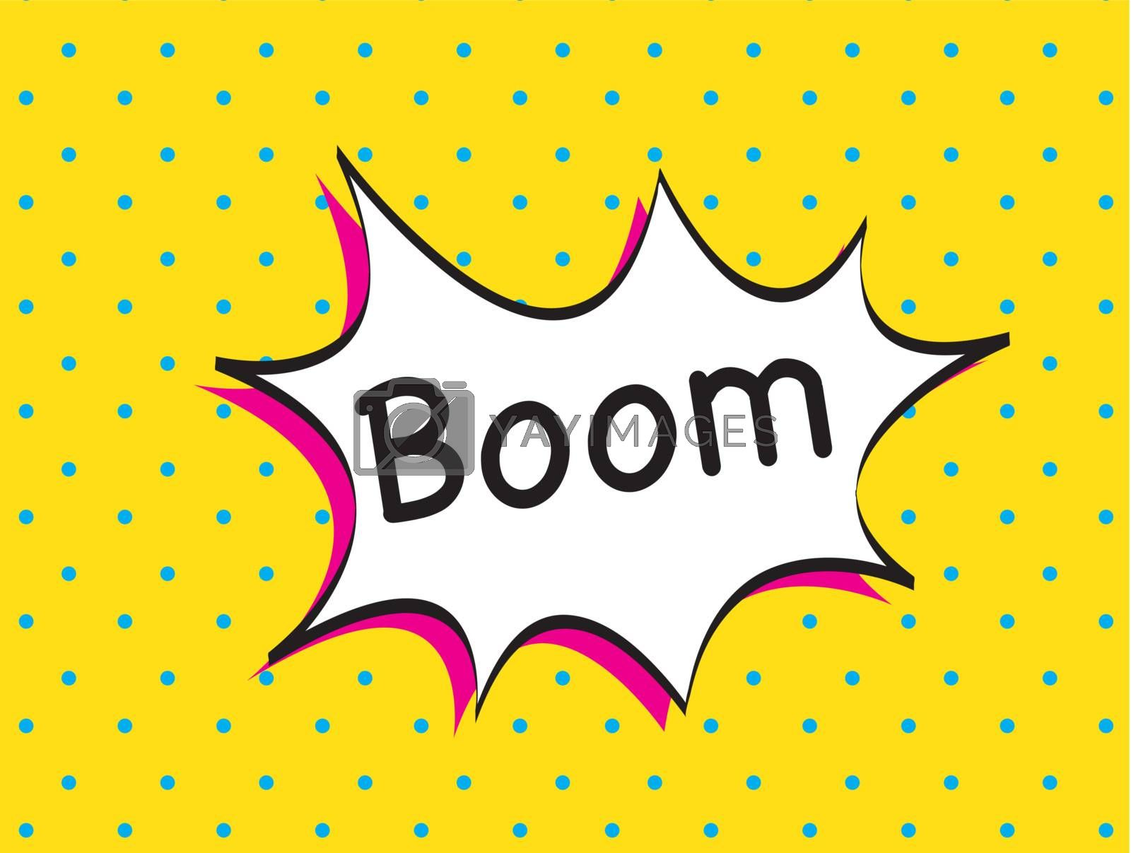 boom icon over yellow background vector illustration