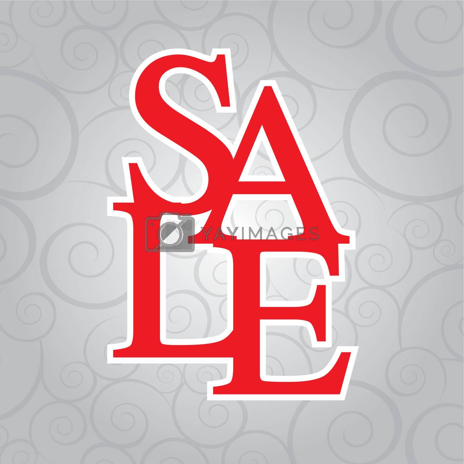 sale background over gray background vector illustration