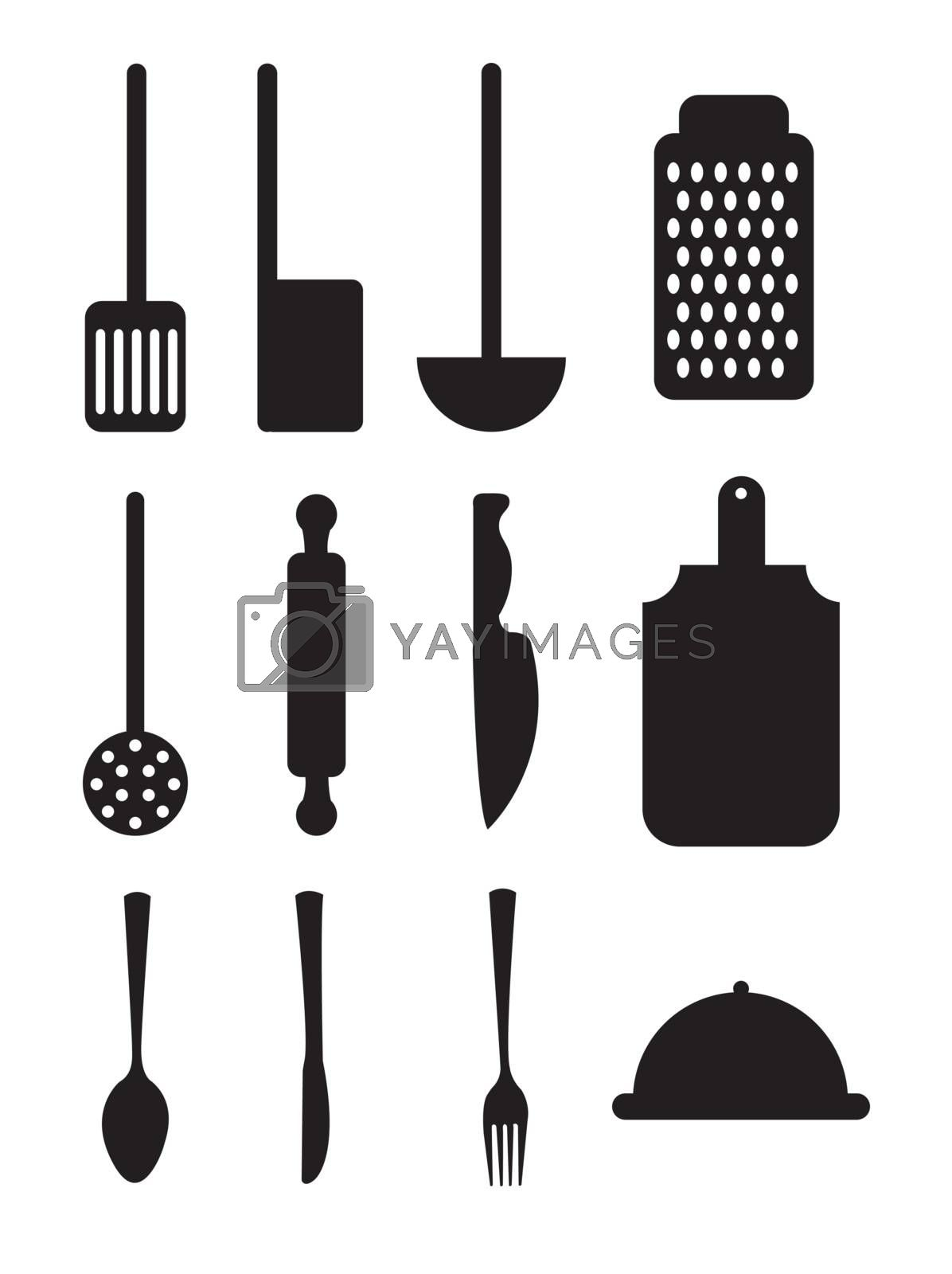 Cutlery icons by yupiramos