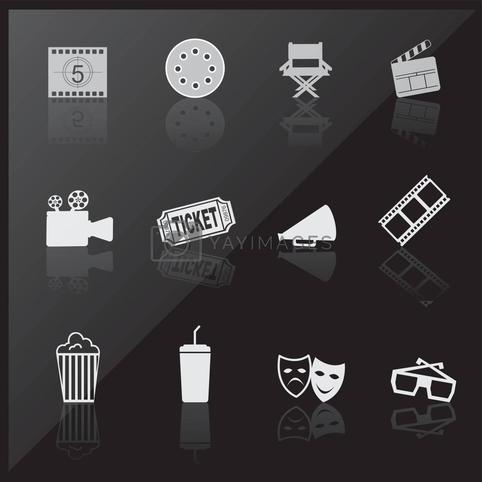 Cinema icons by yupiramos