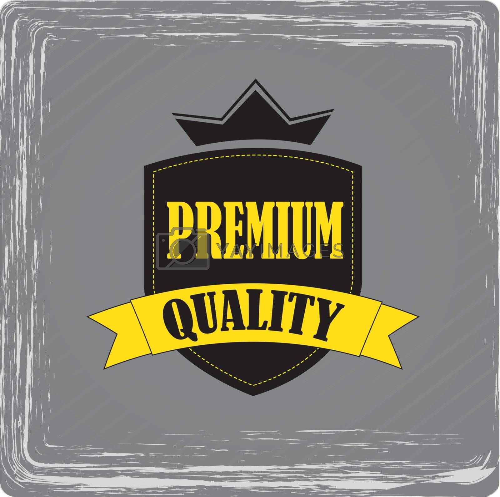 seal stamp premium quality over gray background