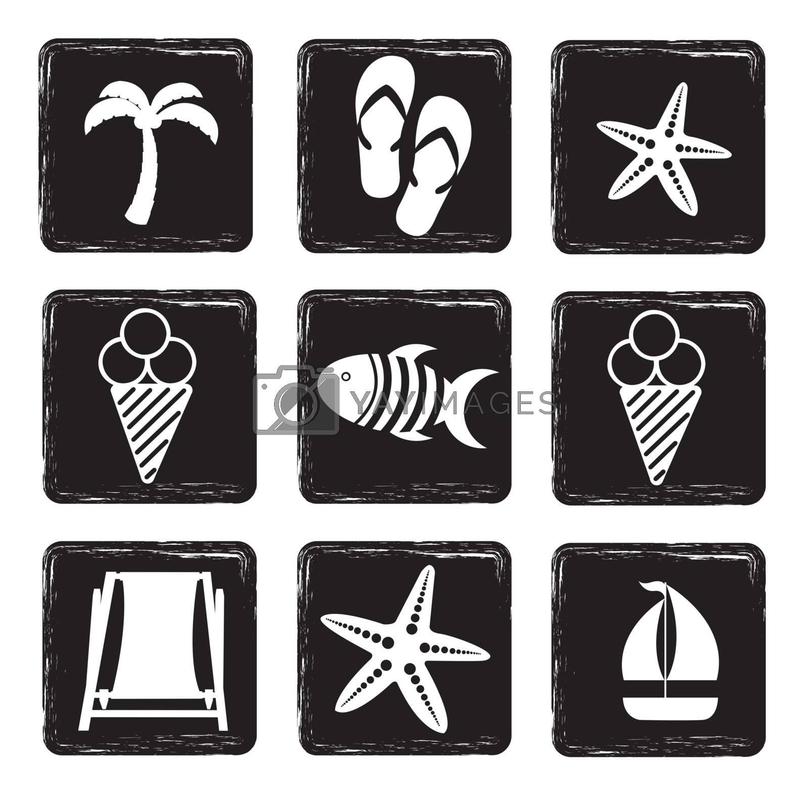 vacation icons by yupiramos