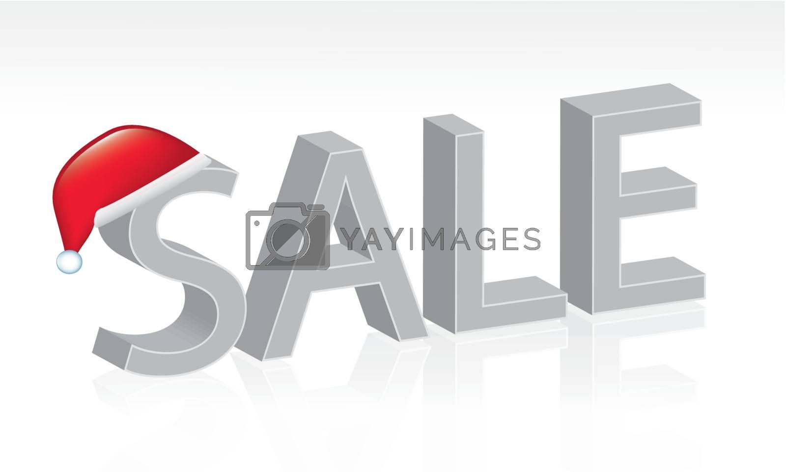 Christmas offer with a red hat over white background