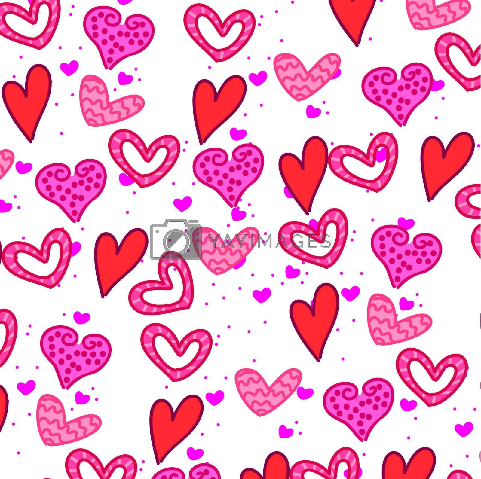 Love card background vector illustration Valentines day
