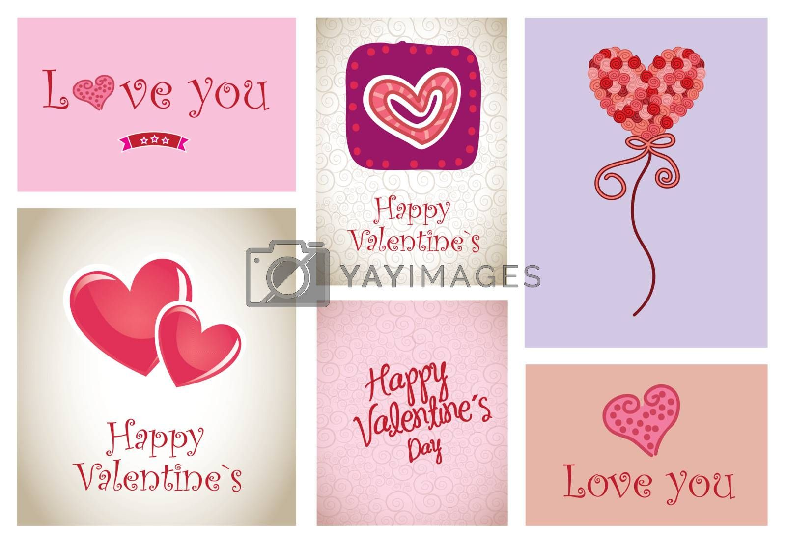 love icons and cards vector illustration valentines day