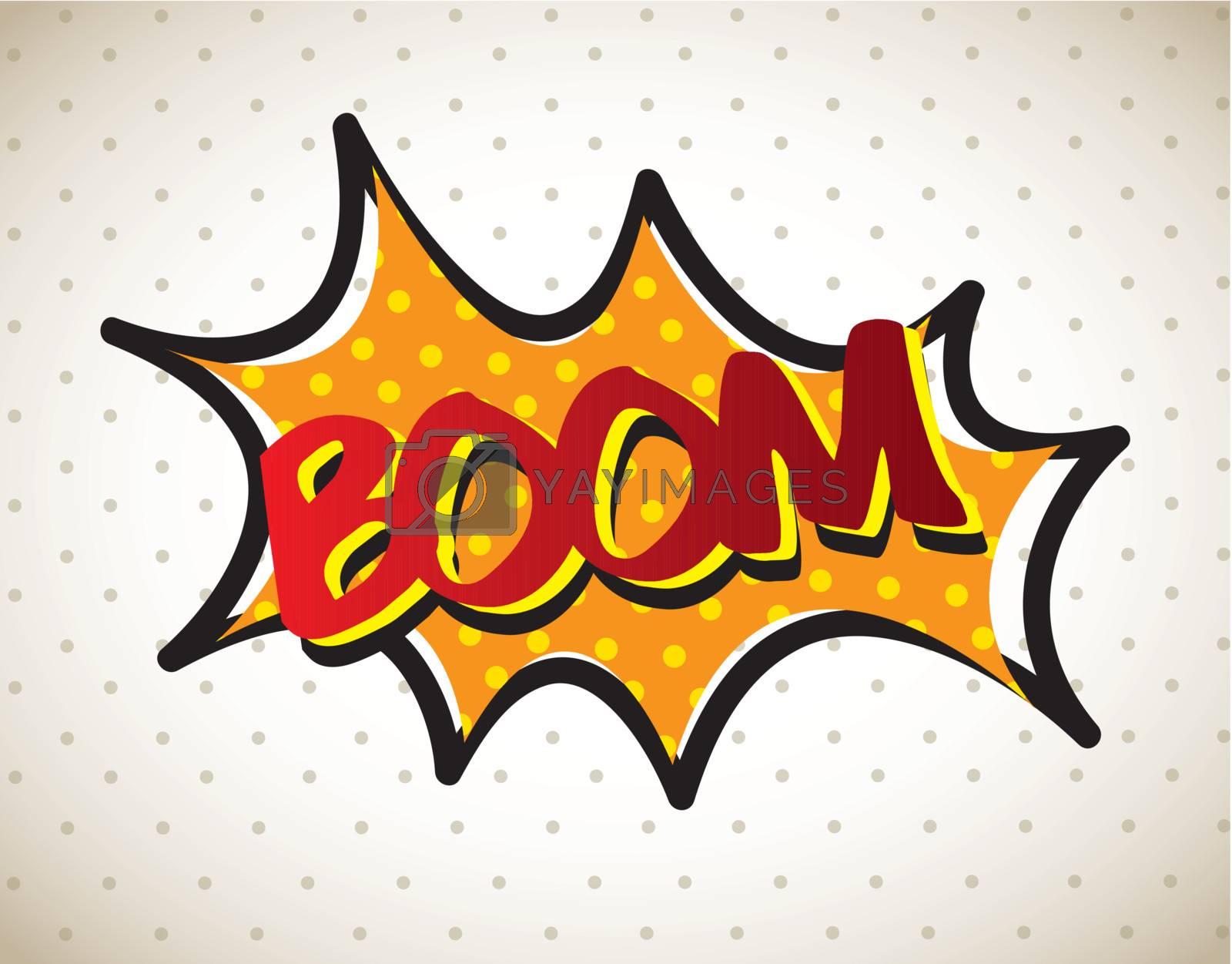 Boom comic over vintage background vector illustration