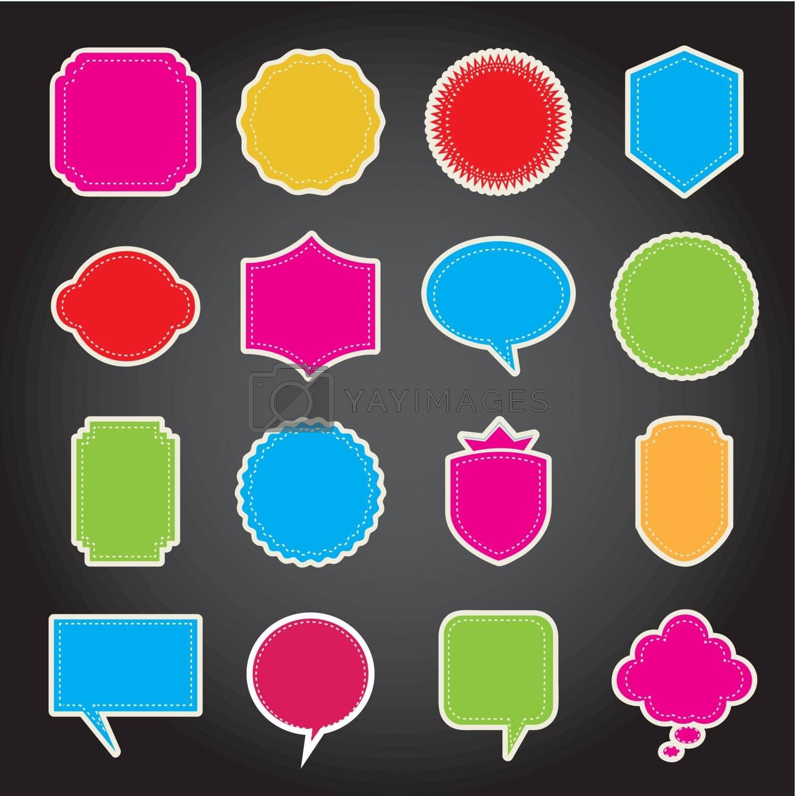 colorful balloons text over black background. vector illustration