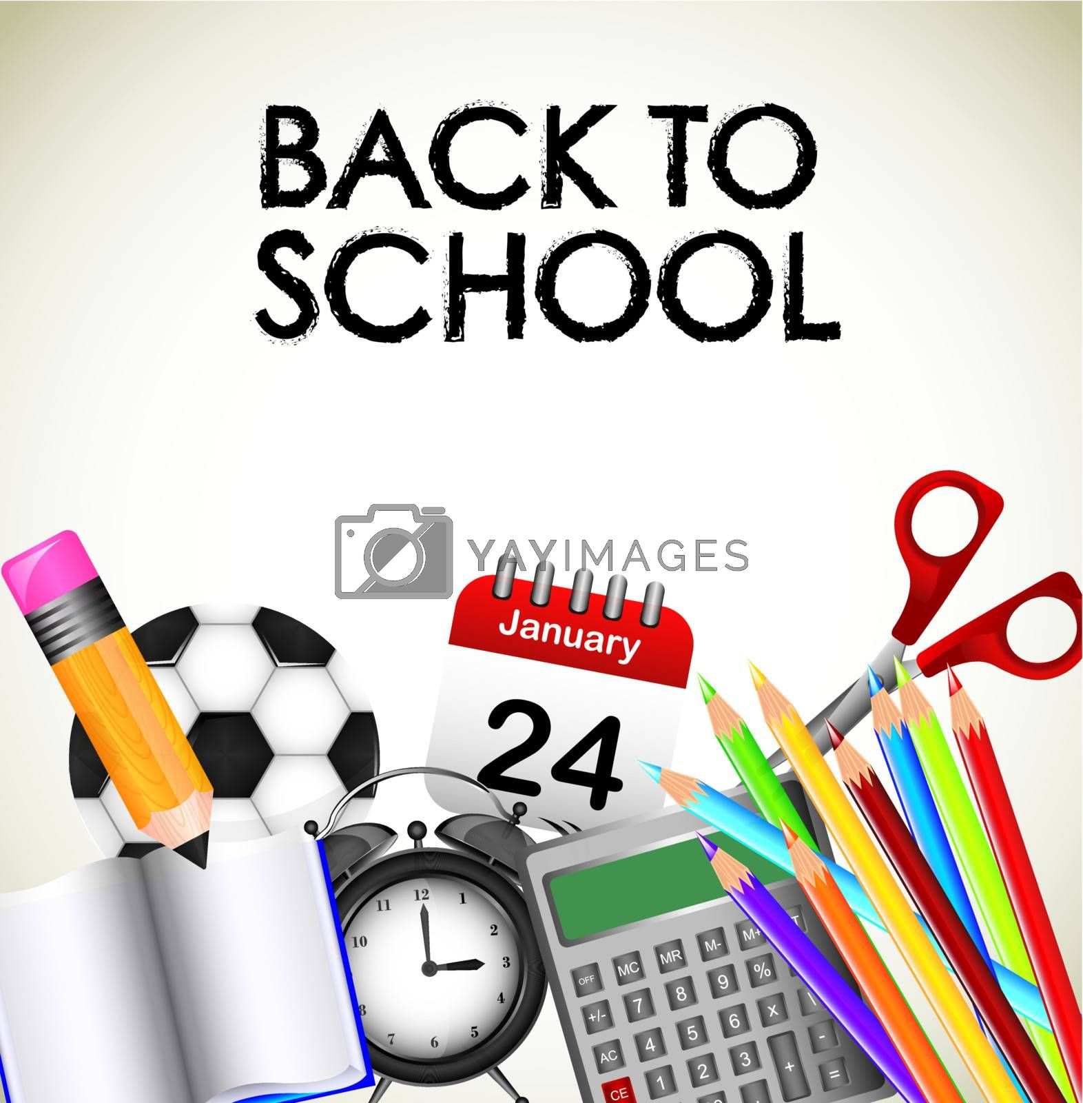 Back to school icons over white background