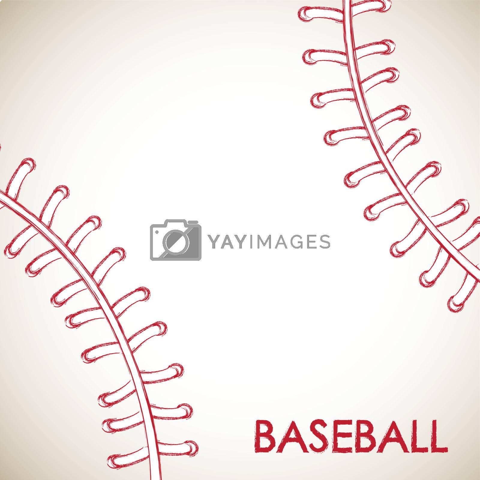 Ball of baseball background vector illustration