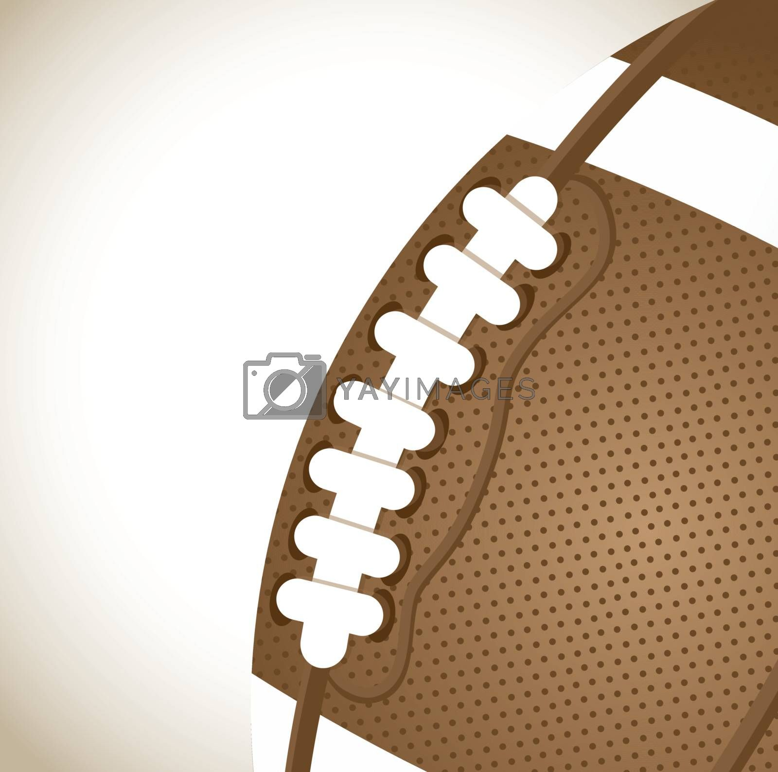 big and vintage ball of Football over brown background