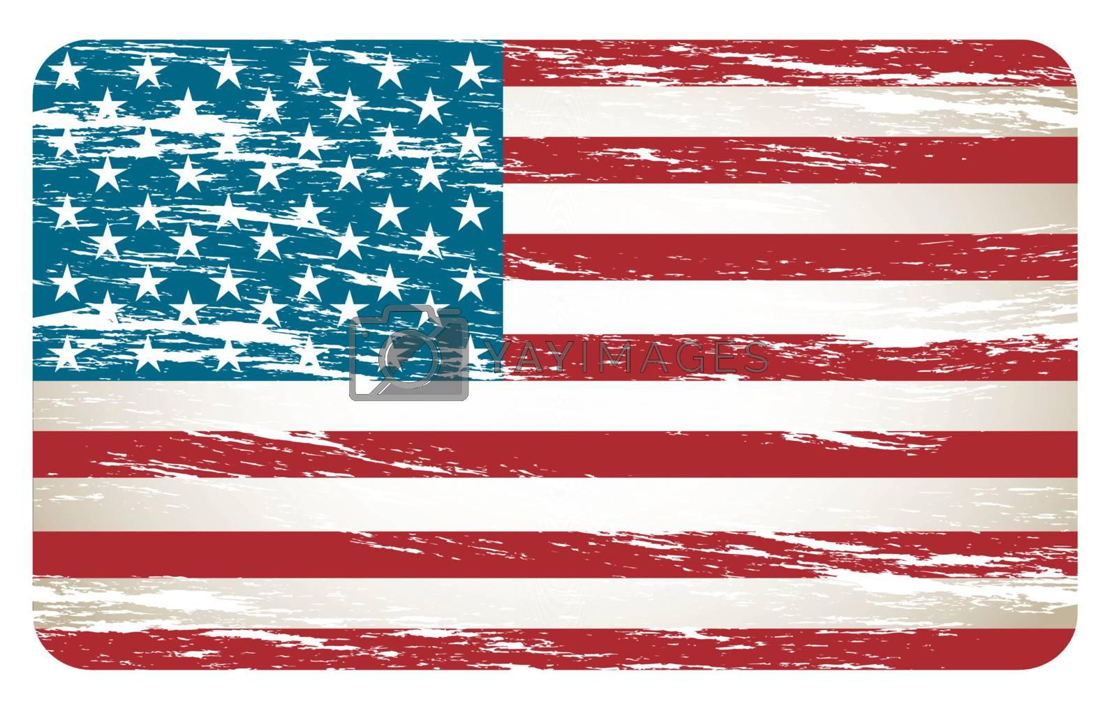 United States flag over white background vector illutration