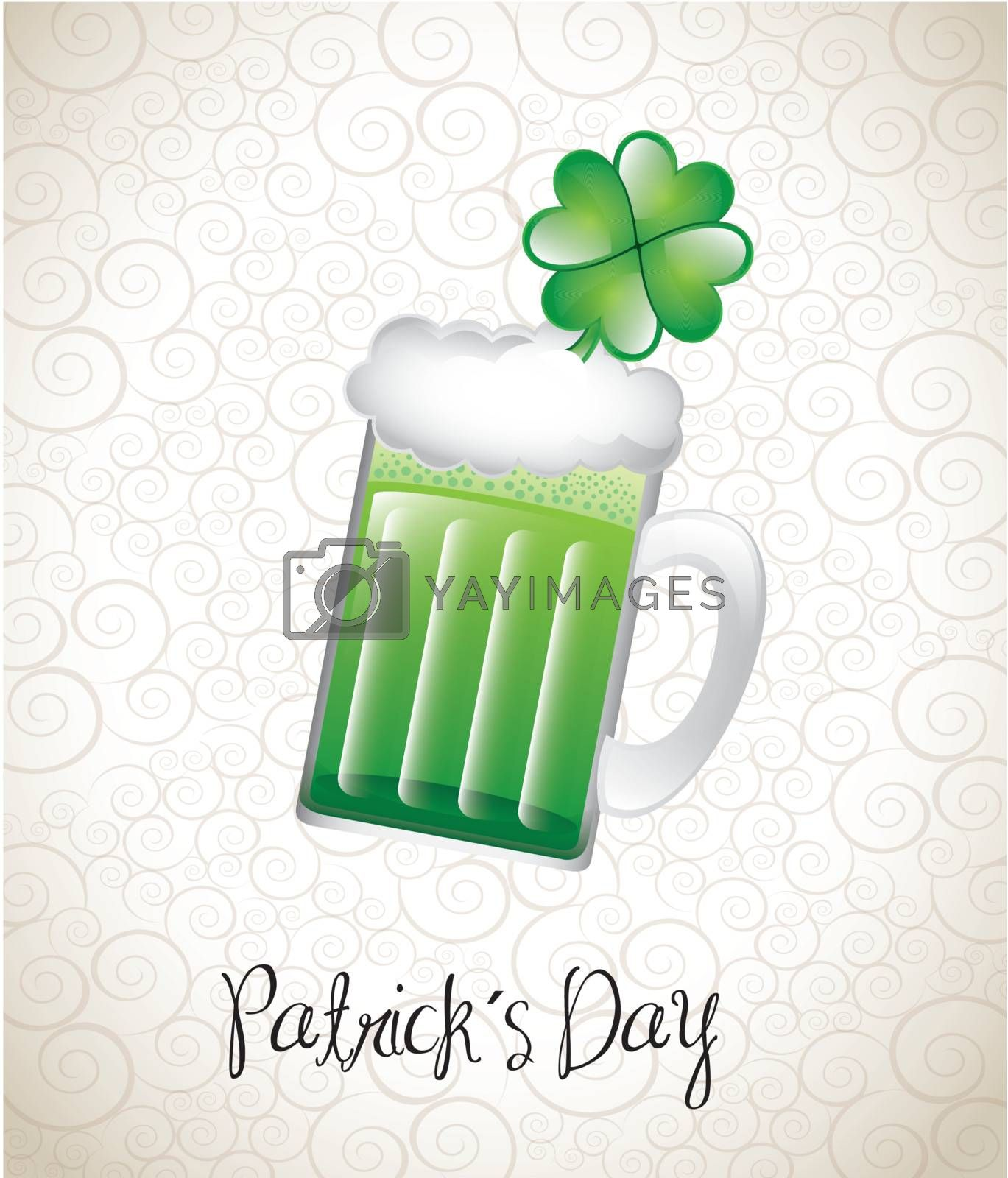 Patricks day over vintage background vector illustration