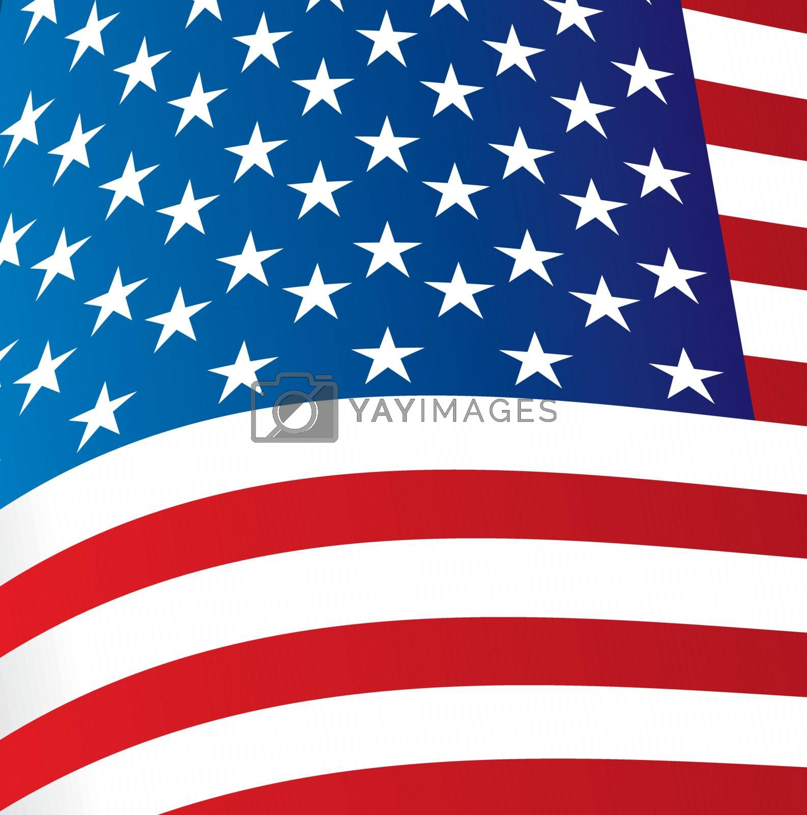 Big Flag of United States background vector illustration
