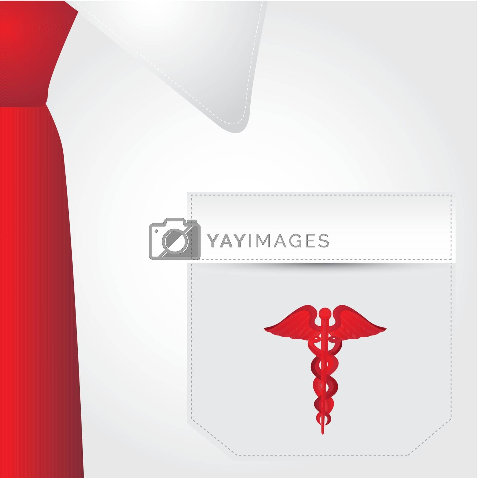 medical uniform with the symbol of medicine vector illustration