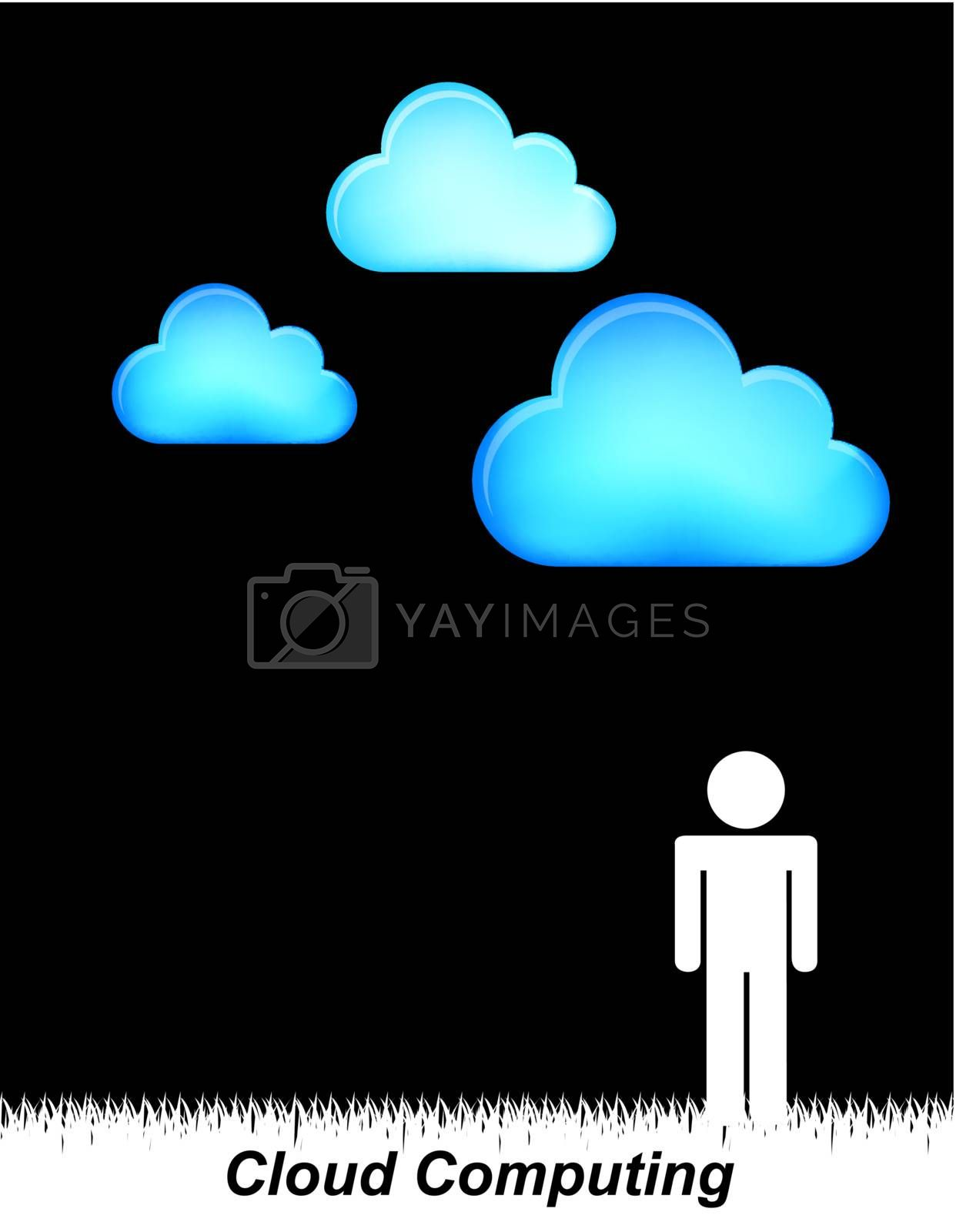 People communication over black background vector illustration