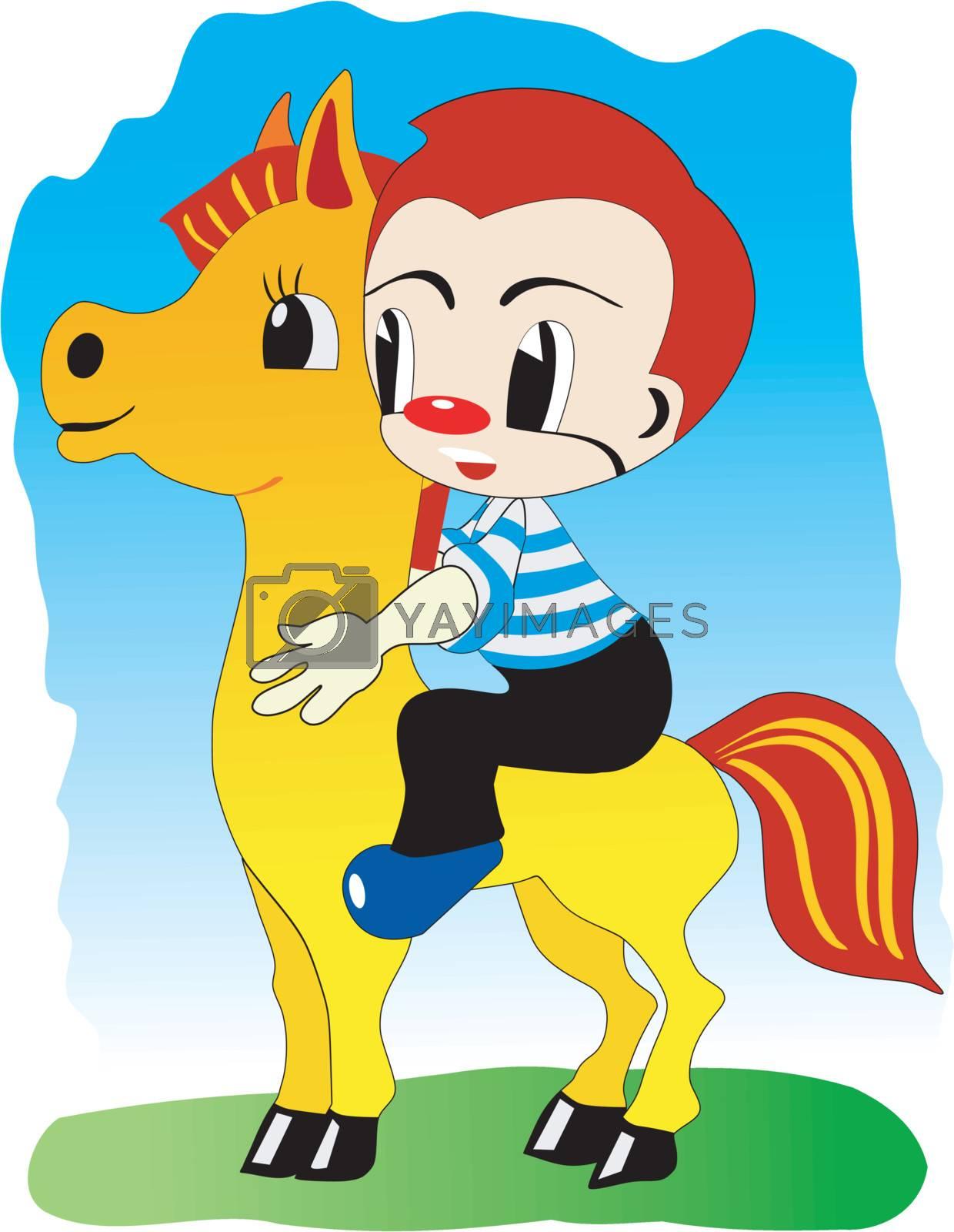 Boy on pony