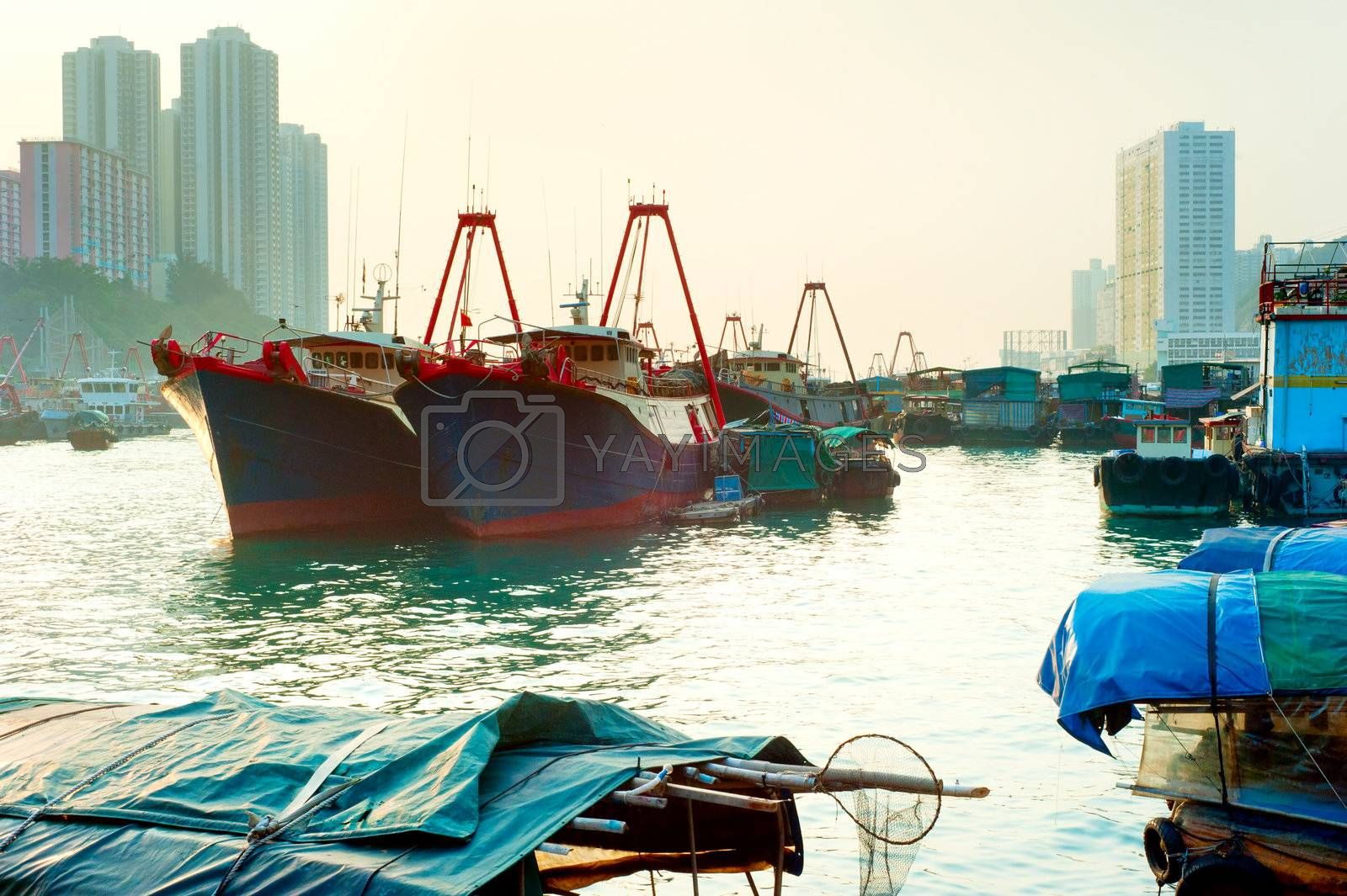 Aberdeen is famous to tourists for its floating village. Hong Kong