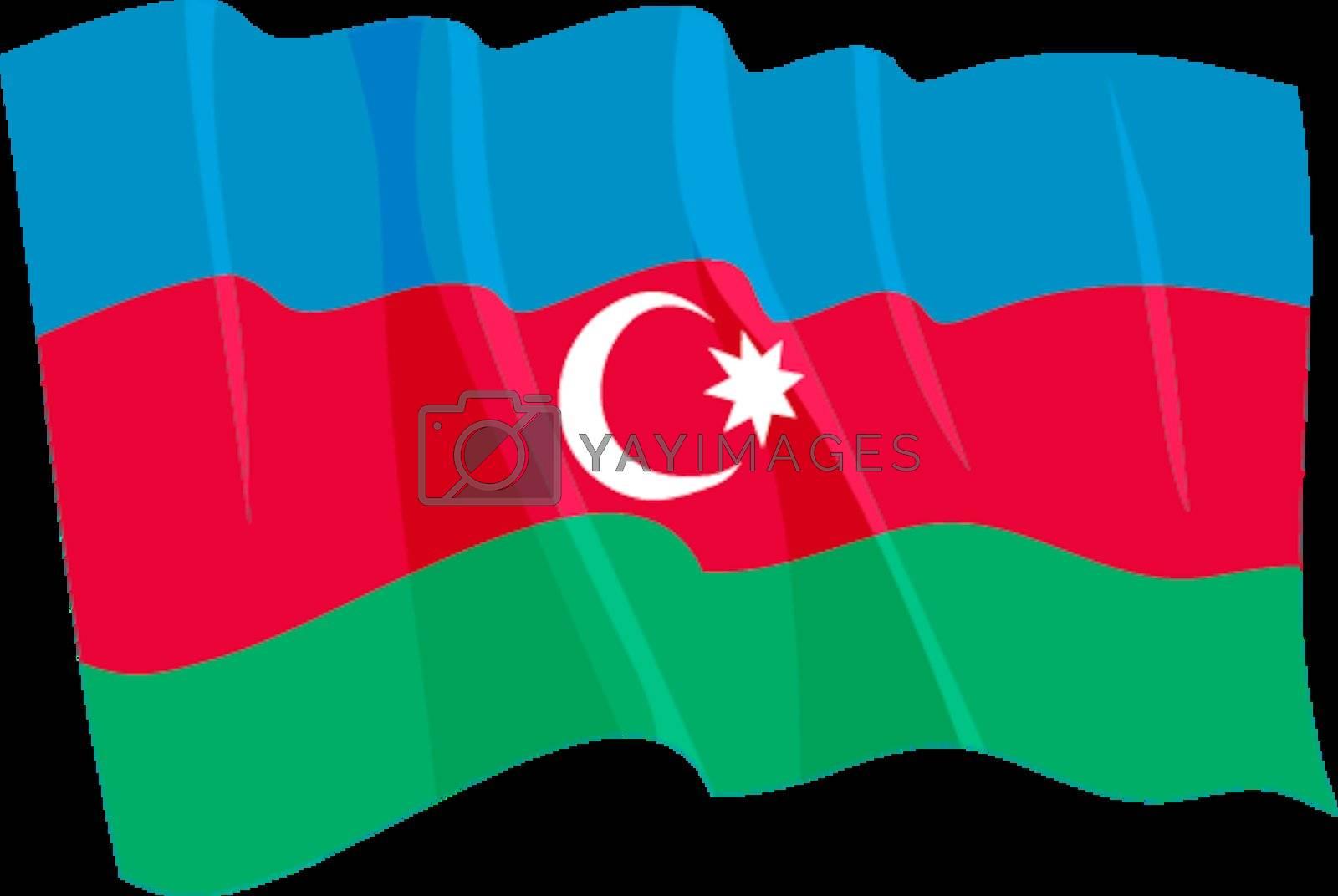 Political waving flag of Azerbaijan