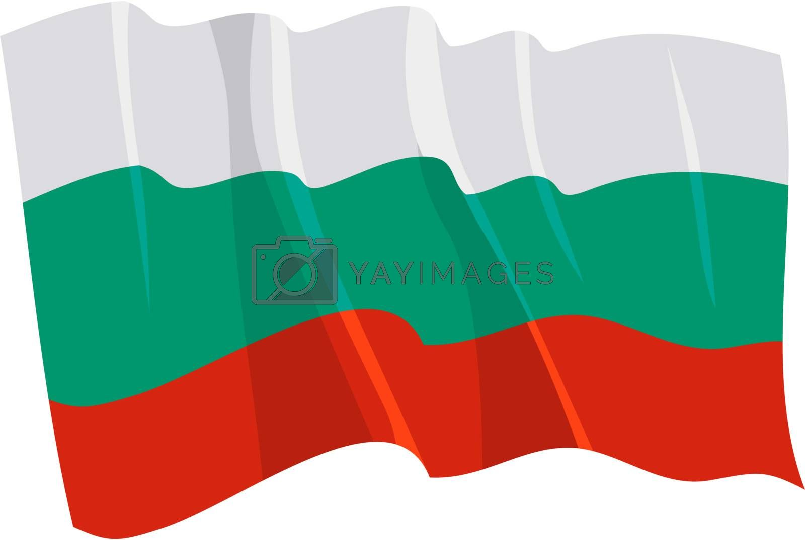 Political waving flag of Bulgaria