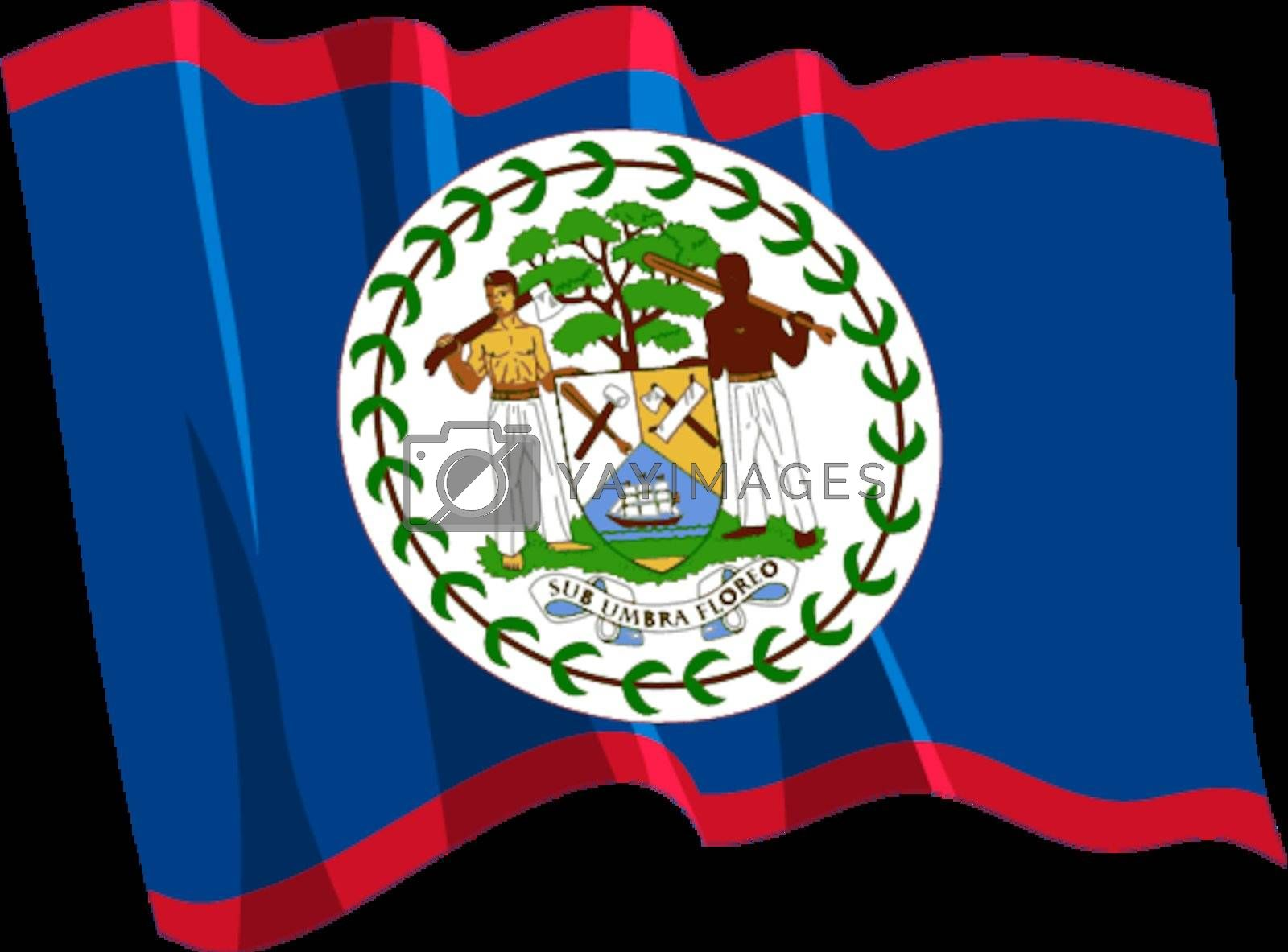 Political waving flag of Belize