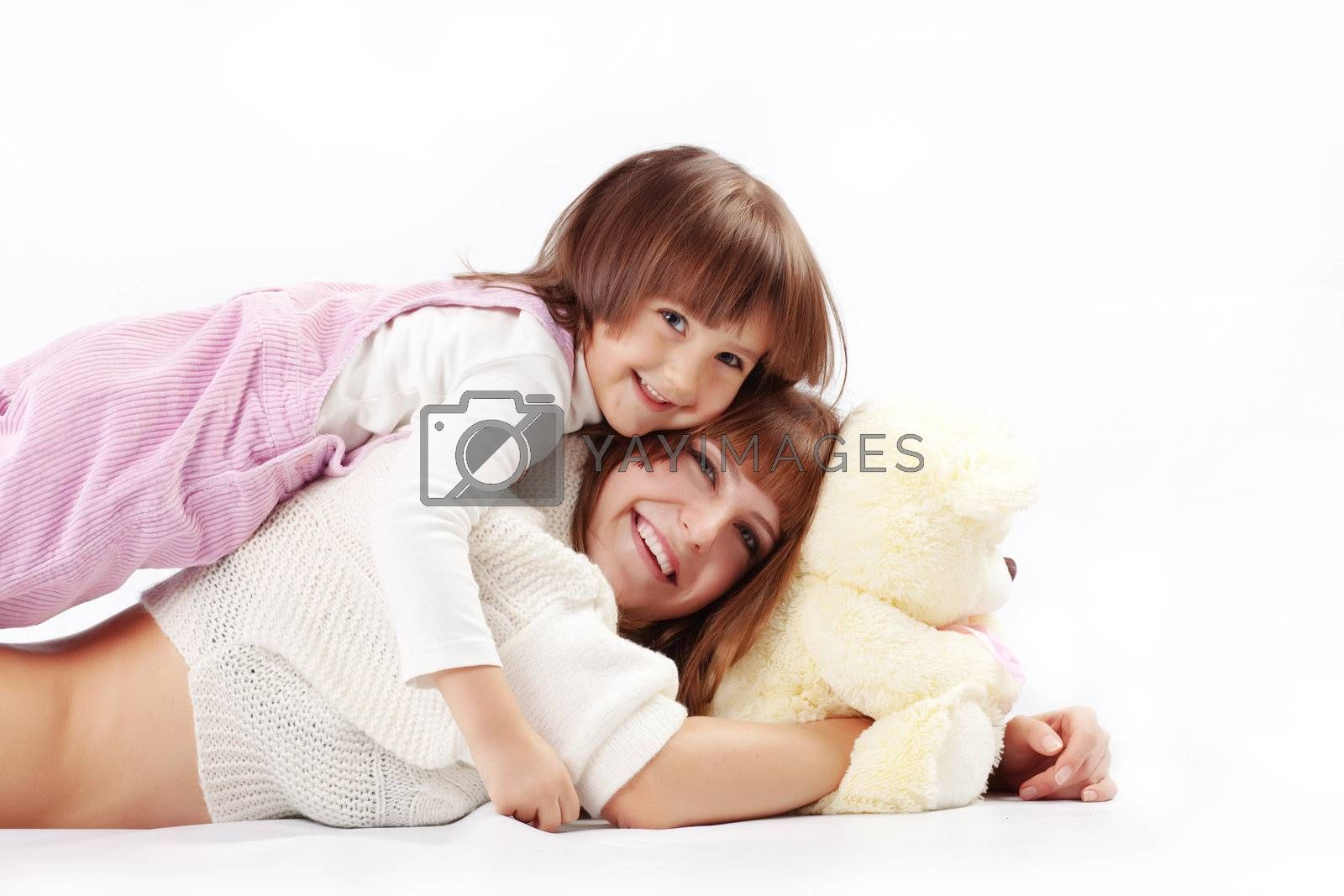 Portrait of loving mother with her child