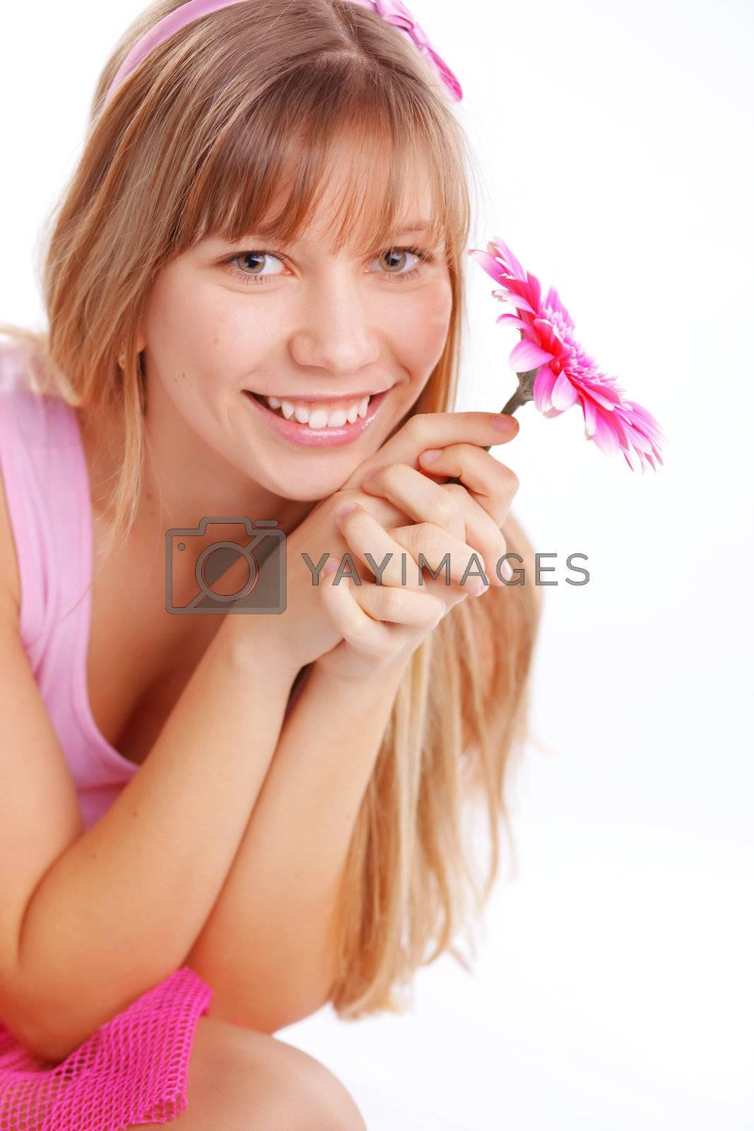 Portrait of beautiful young romantic girl